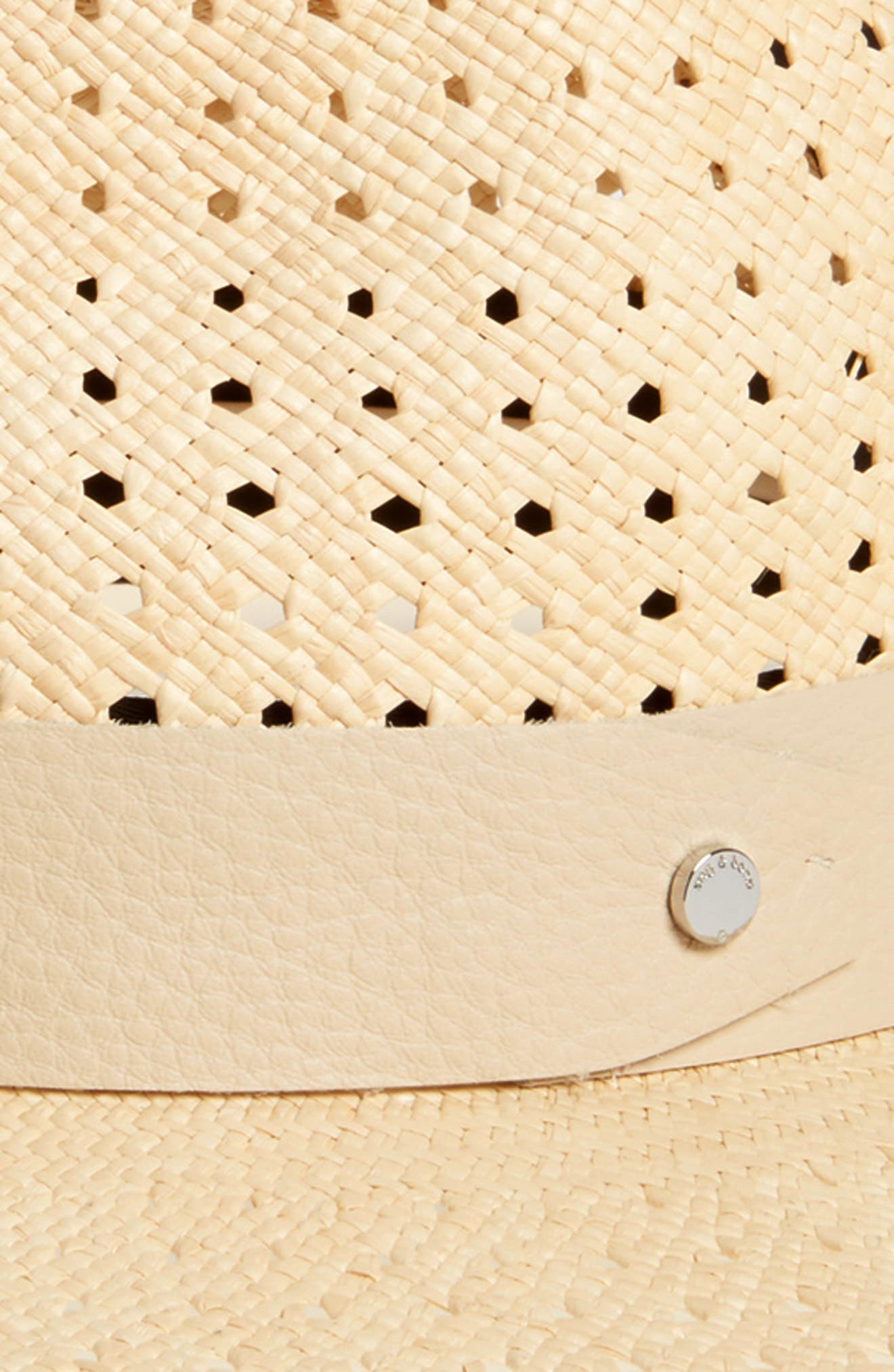 Lacey Wide Brim Panama Hat,                             Alternate thumbnail 2, color,