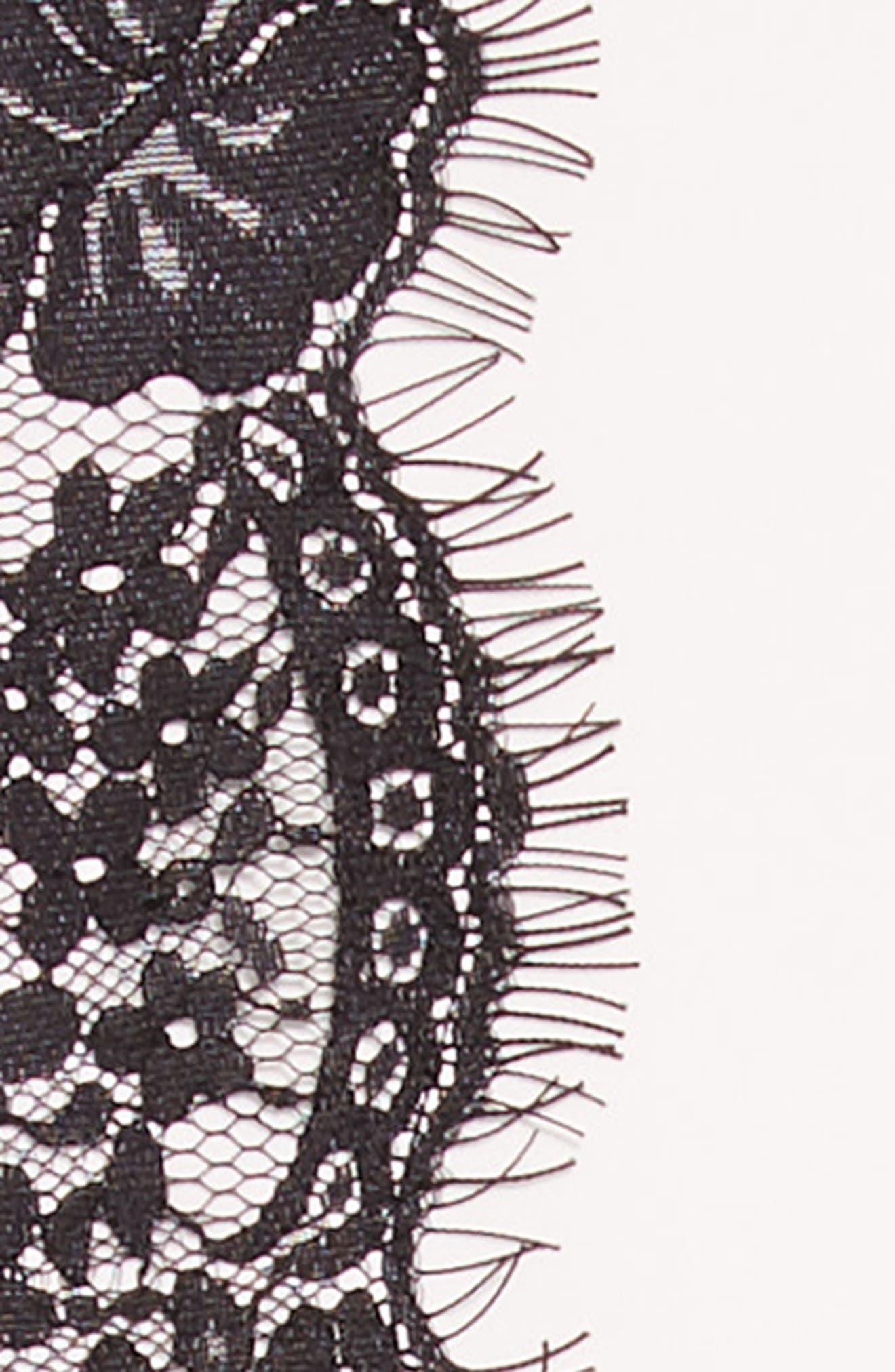 Lace Trim Skater Dress,                             Alternate thumbnail 3, color,                             WHITE