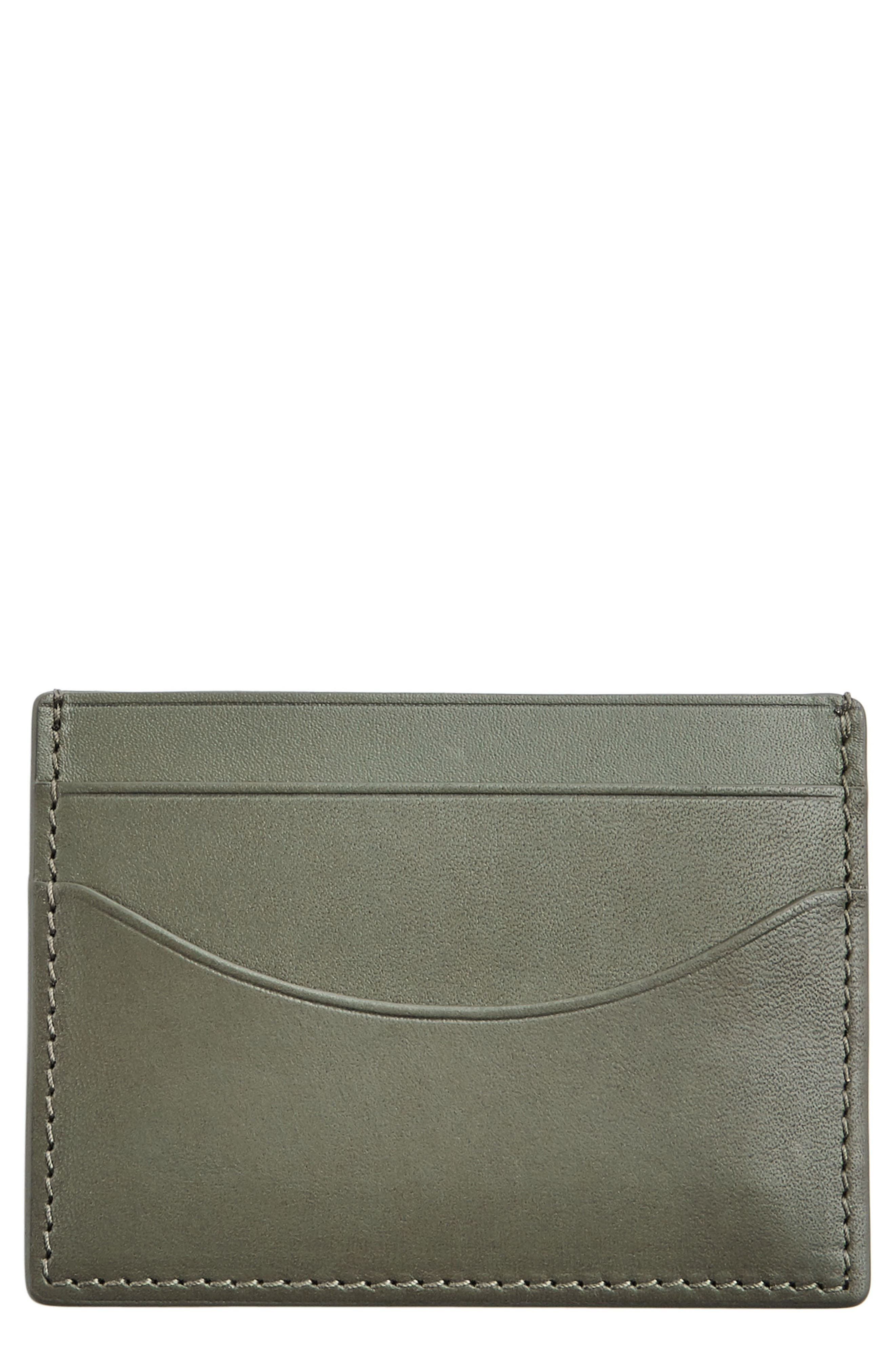 'Torben' Leather Card Case,                         Main,                         color, 357