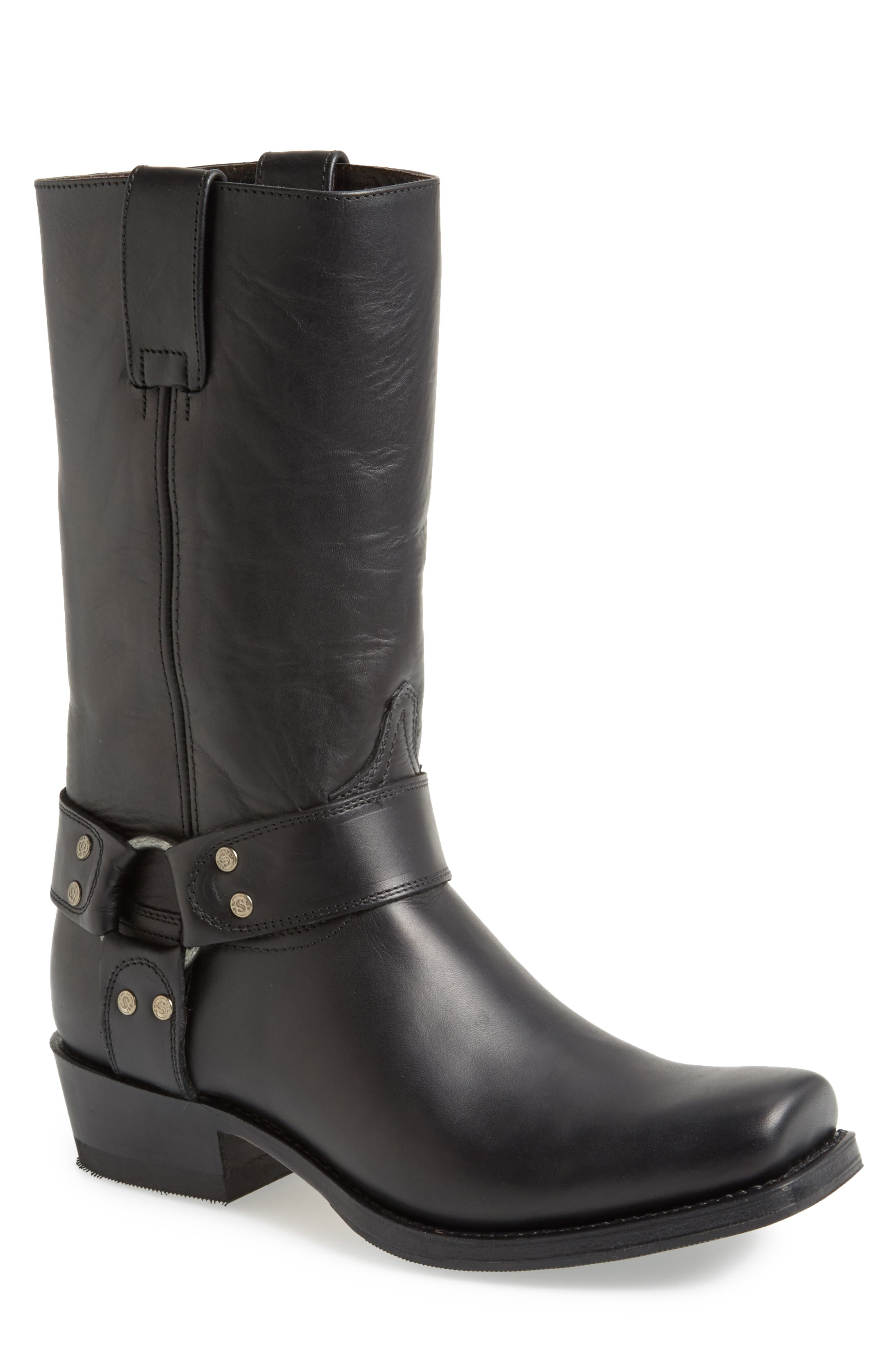 Boots Tall Harness Boot,                             Alternate thumbnail 4, color,                             BLACK