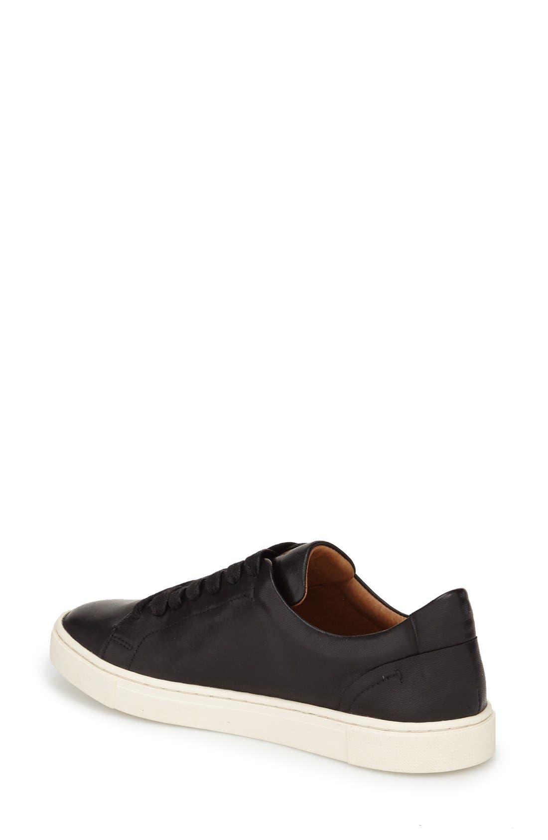 FRYE,                             Ivy Sneaker,                             Alternate thumbnail 2, color,                             BLACK LEATHER