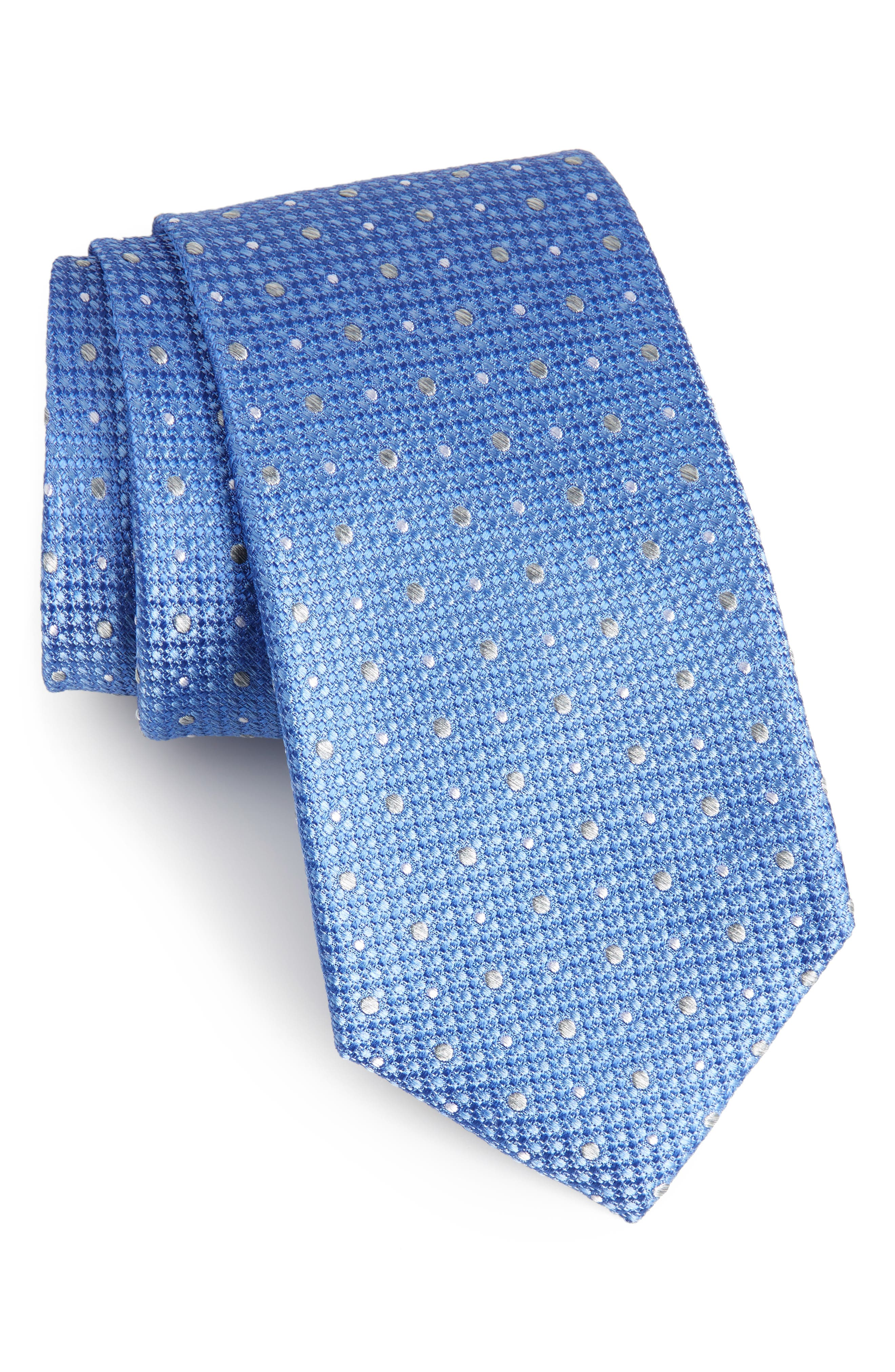 Gest Dot Silk Tie,                             Main thumbnail 3, color,