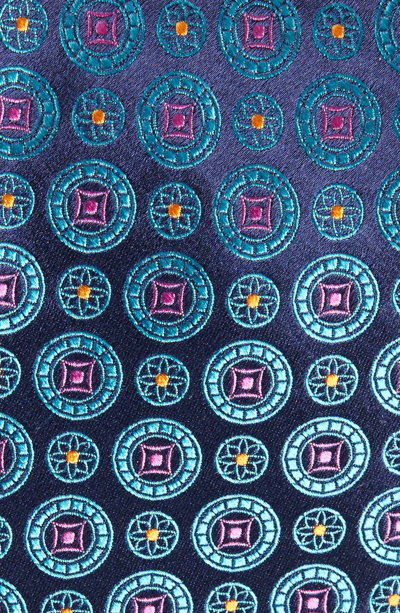 Medallion Silk Tie,                             Alternate thumbnail 2, color,                             435