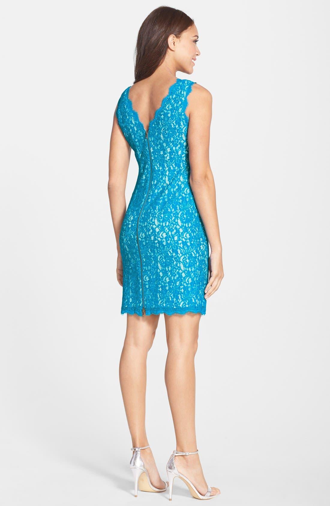 Boatneck Lace Sheath Dress,                             Alternate thumbnail 81, color,