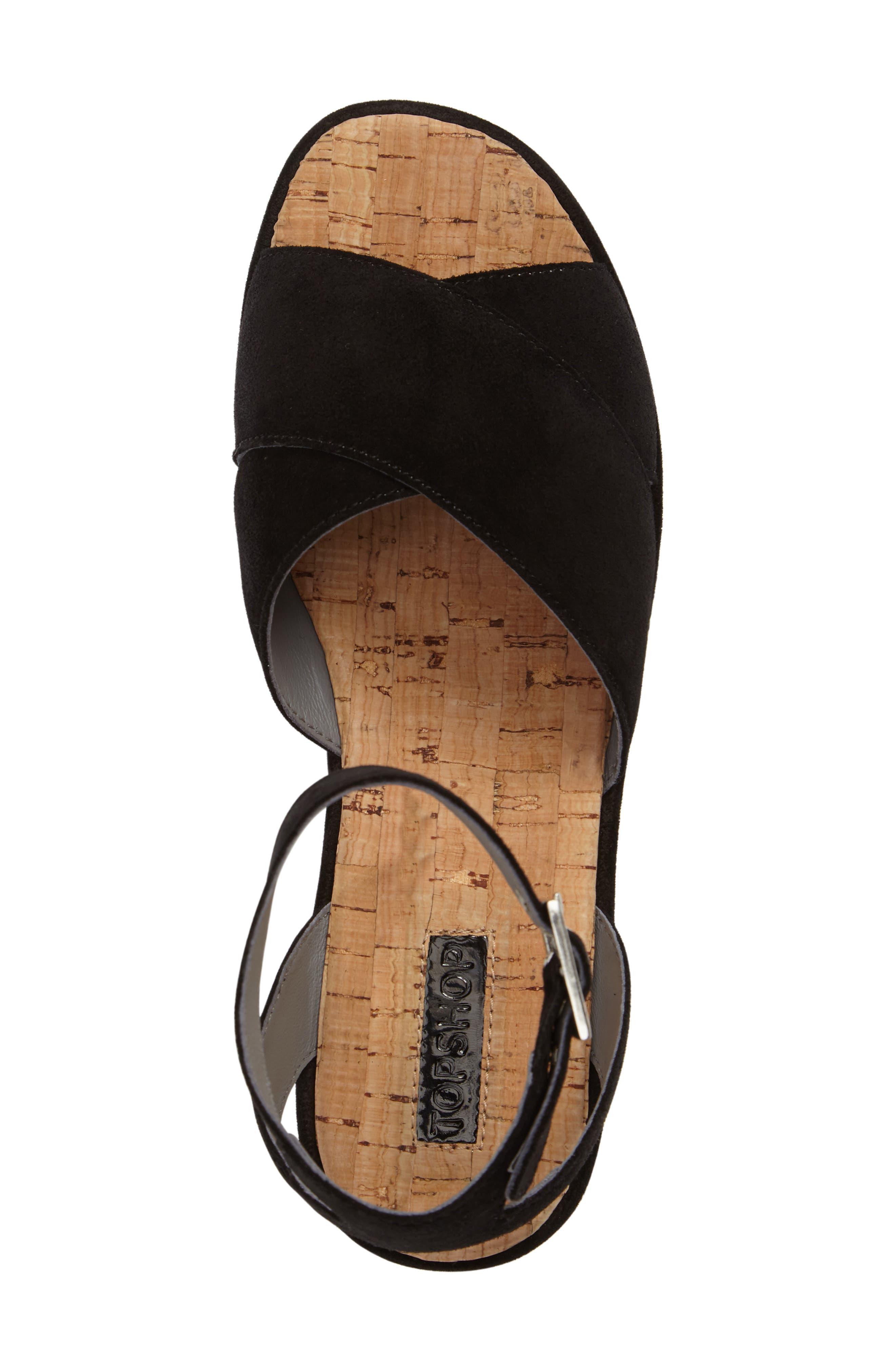 Whisper Platform Sandal,                             Alternate thumbnail 5, color,                             001