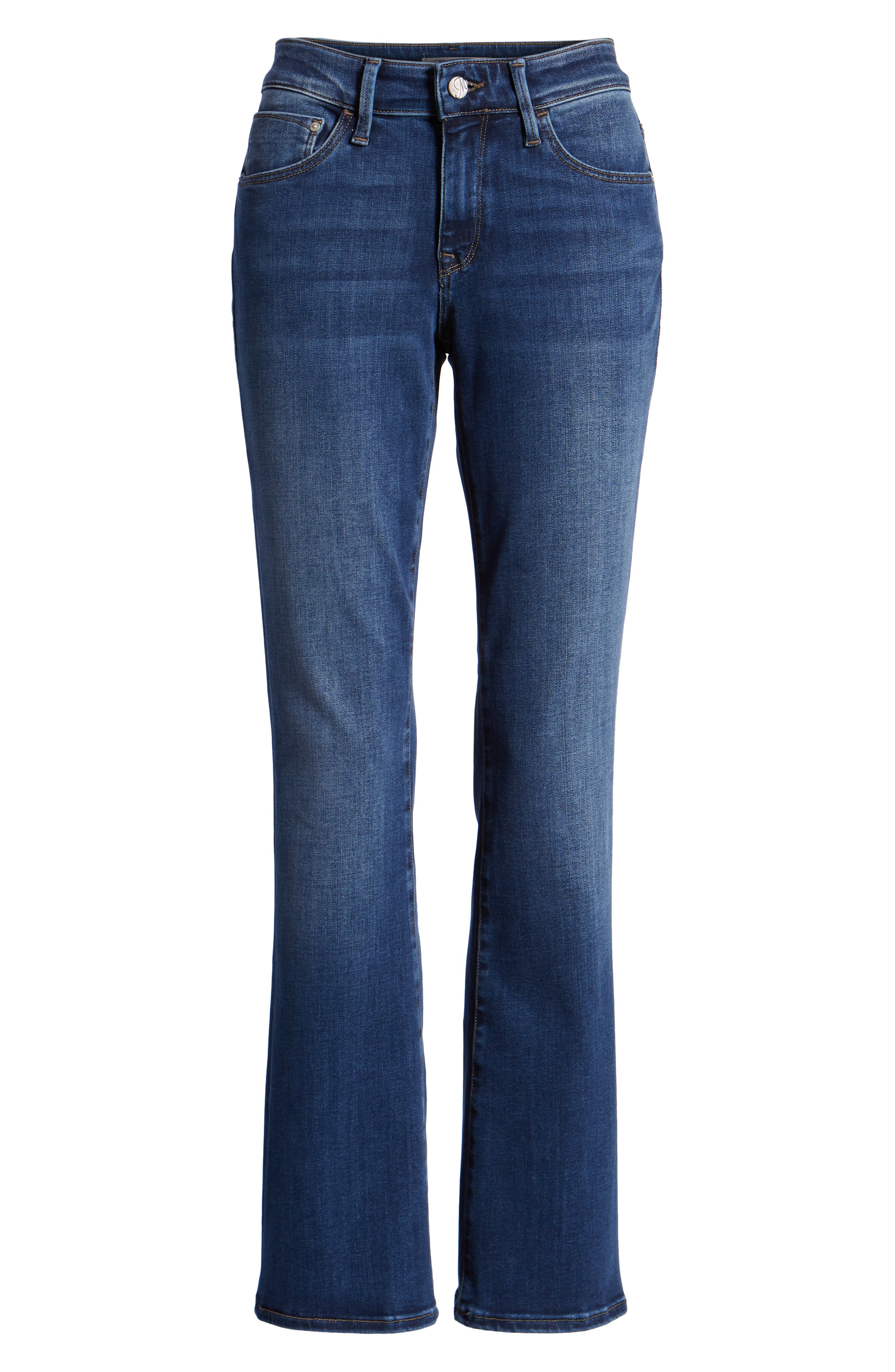 Molly Classic Bootcut Jeans,                             Alternate thumbnail 7, color,                             INDIGO SUPERSOFT
