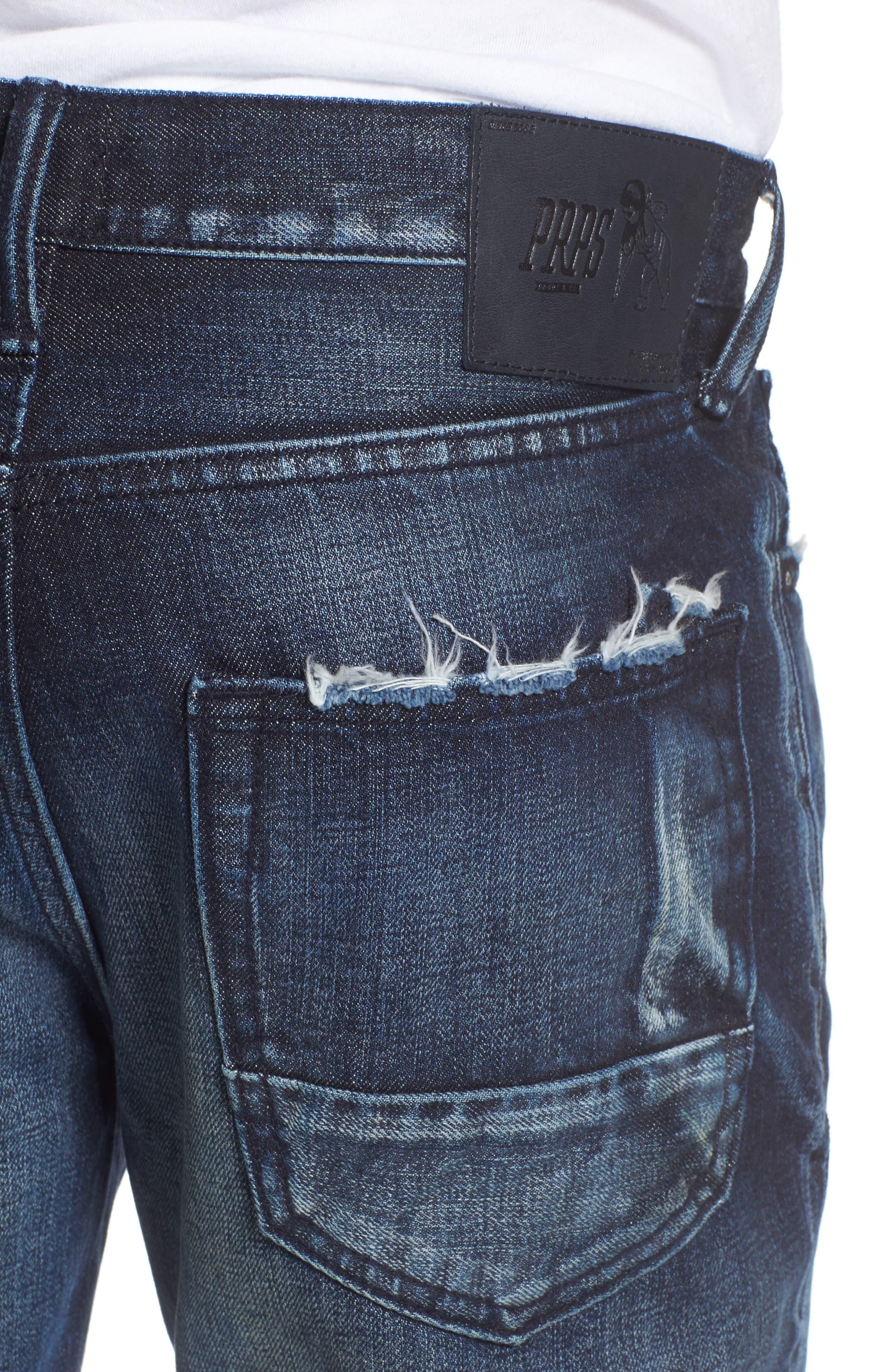 Demon Slim Straight Jeans,                             Alternate thumbnail 4, color,                             INDIGO