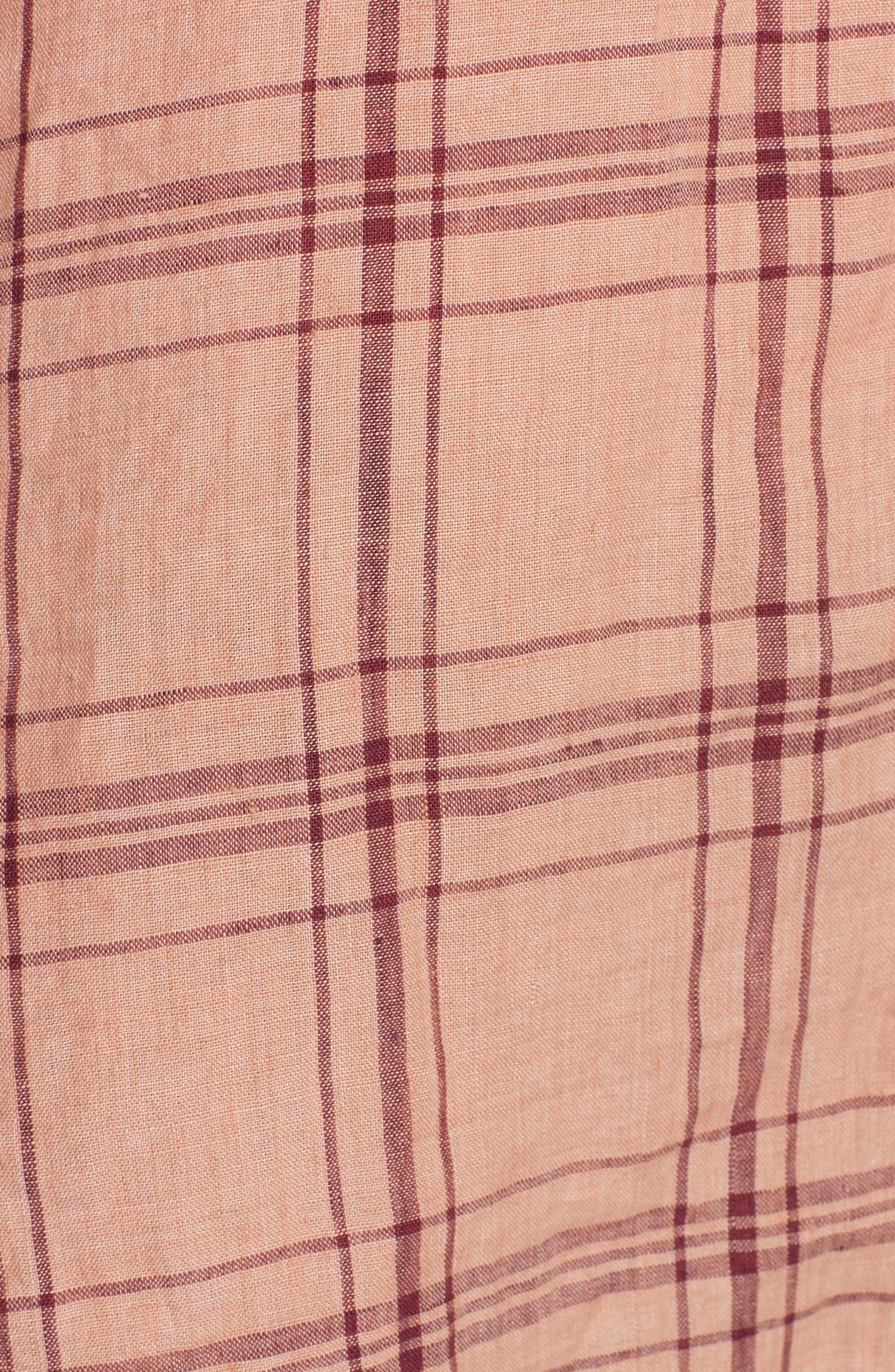 No Limits Plaid Linen Shirt,                             Alternate thumbnail 10, color,