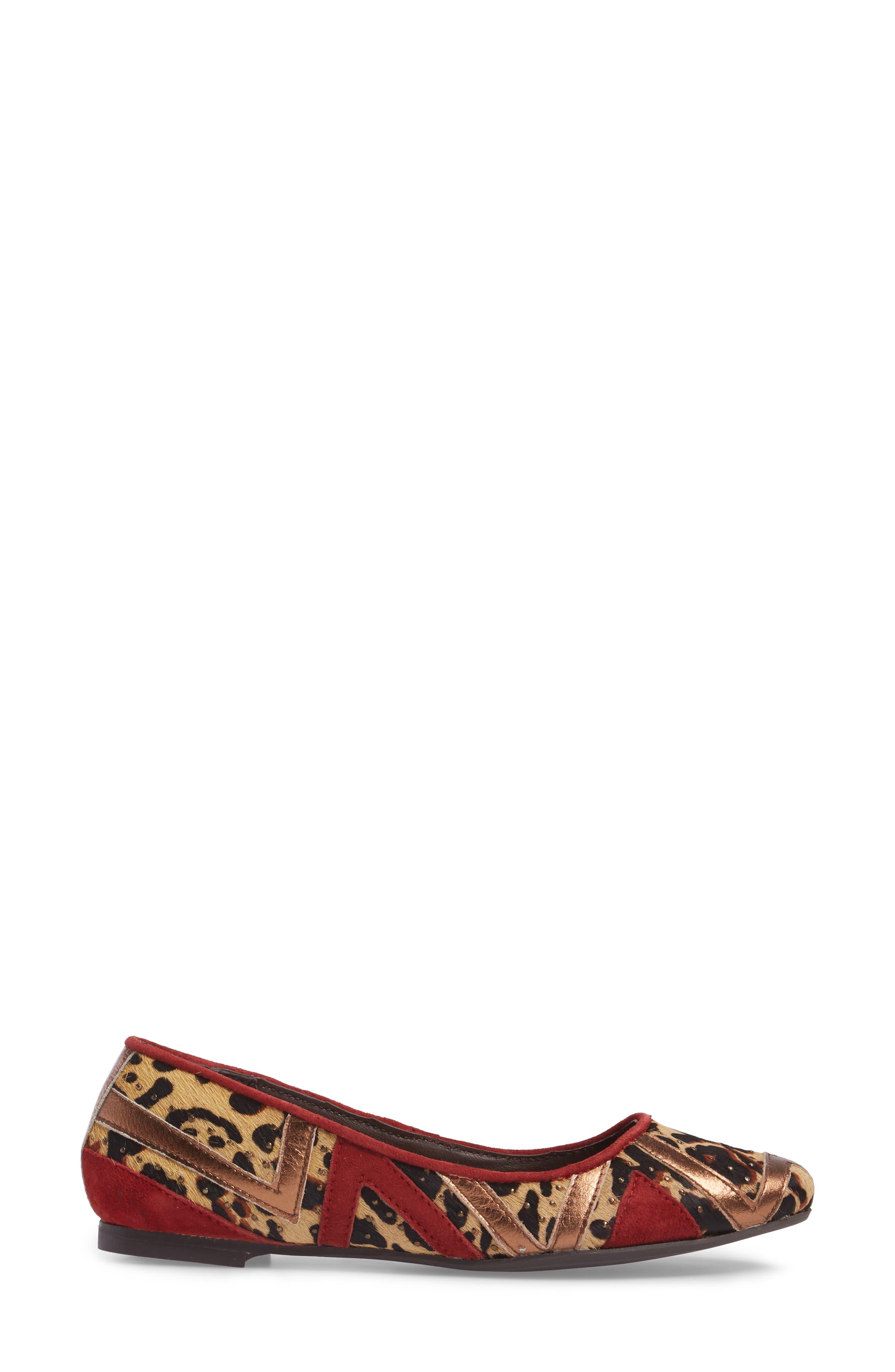 Celestria Studded Flat,                             Alternate thumbnail 3, color,                             200