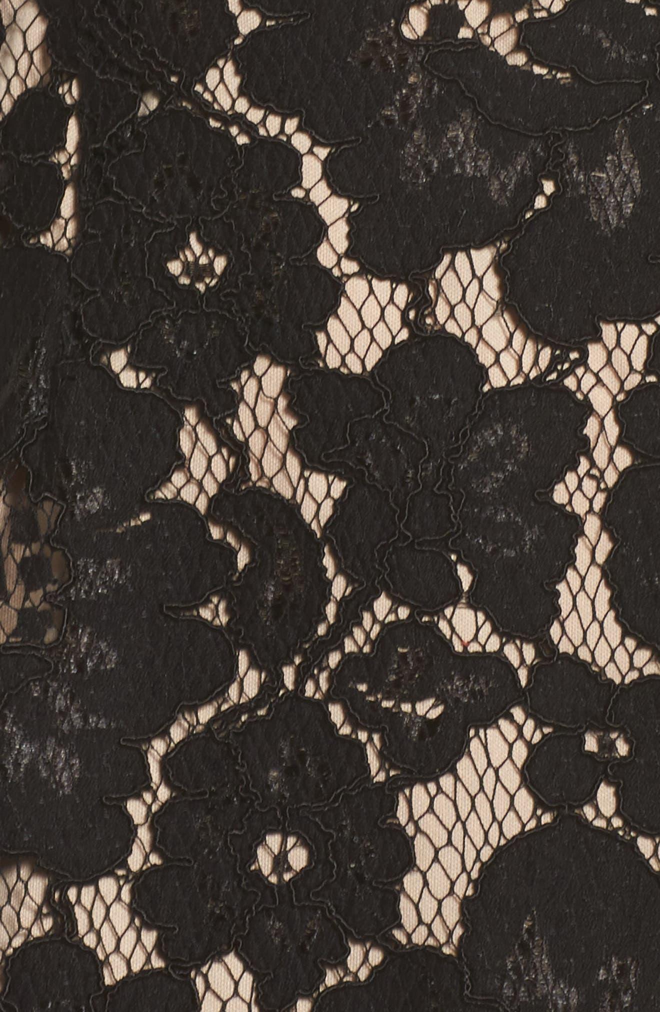 Lace Midi Slipdress,                             Alternate thumbnail 5, color,                             002