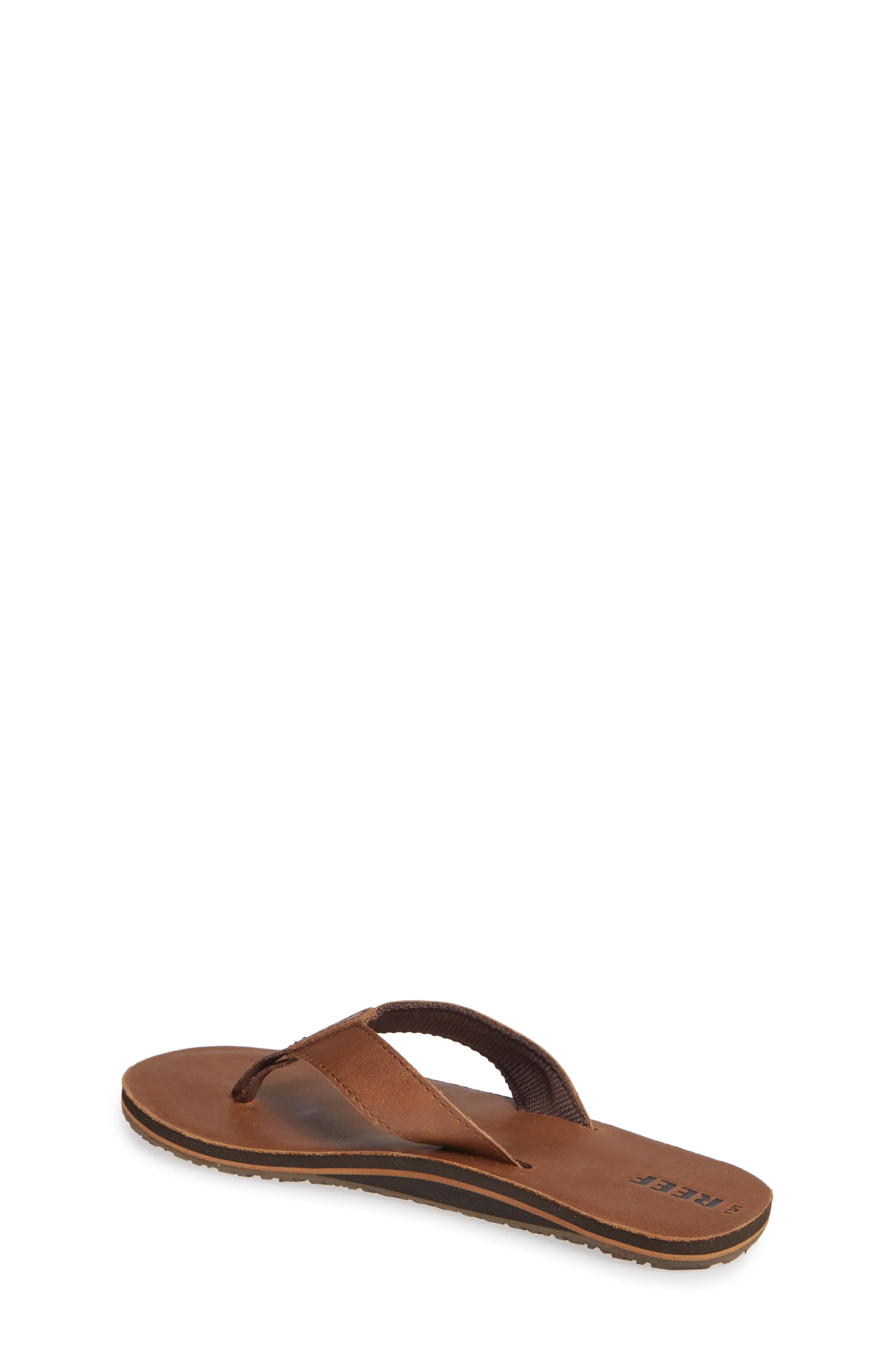 Smoothy Flip Flop,                             Alternate thumbnail 2, color,                             BRONZE BROWN