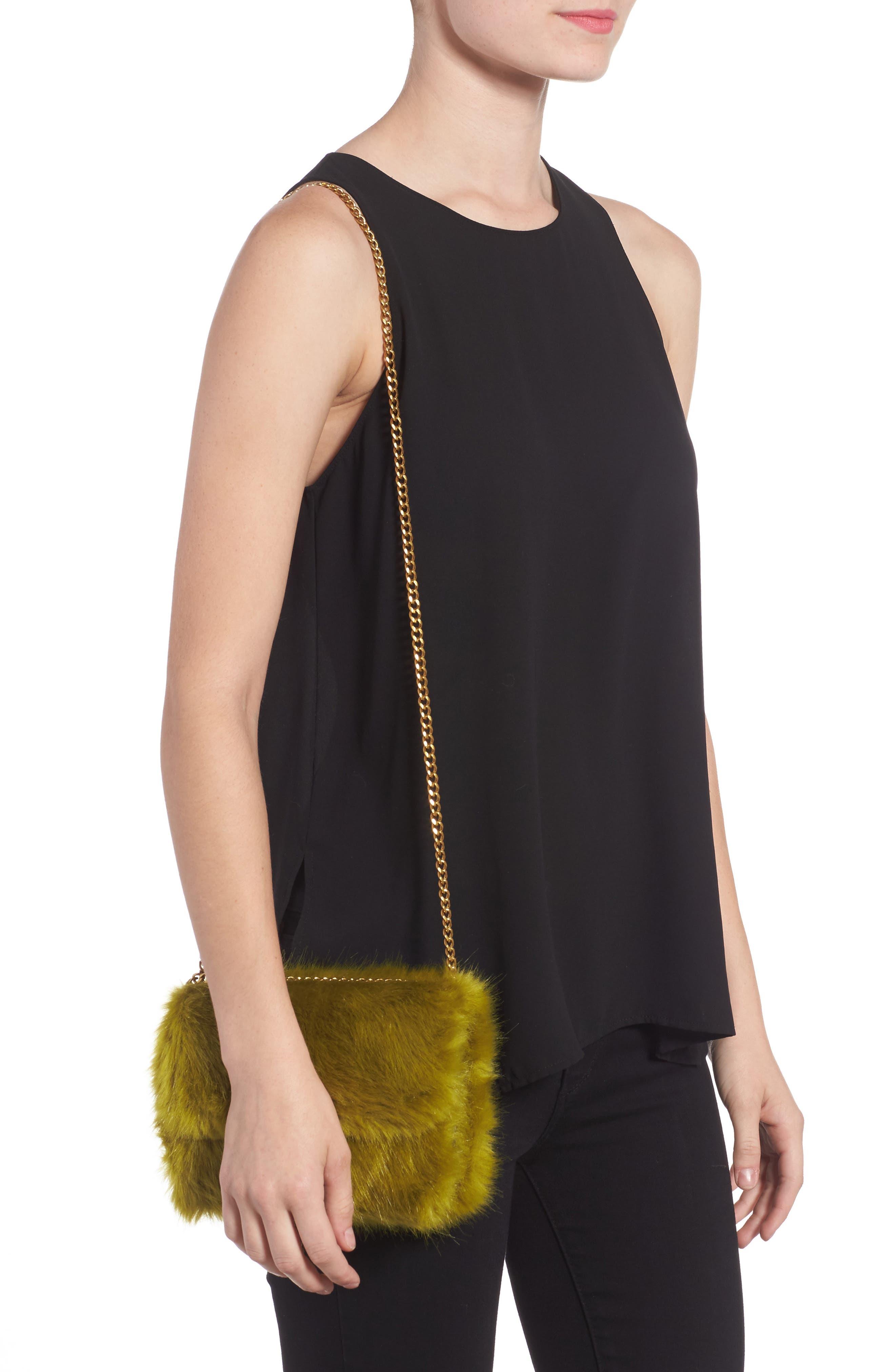Mini Chelsea Faux Fur Convertible Crossbody Bag,                             Alternate thumbnail 2, color,                             320
