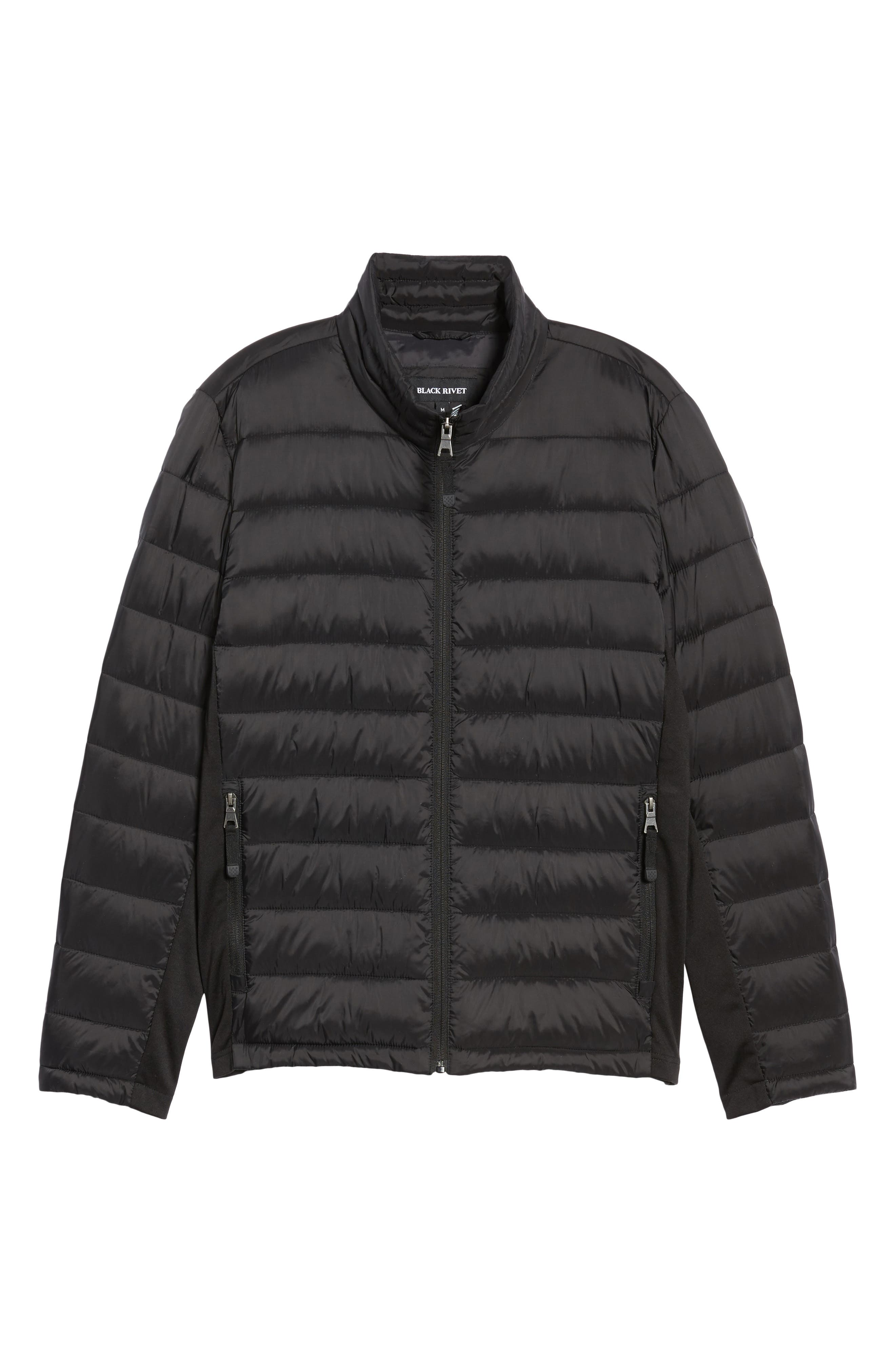 Water Resistant Packable Puffer Jacket,                             Alternate thumbnail 5, color,                             001