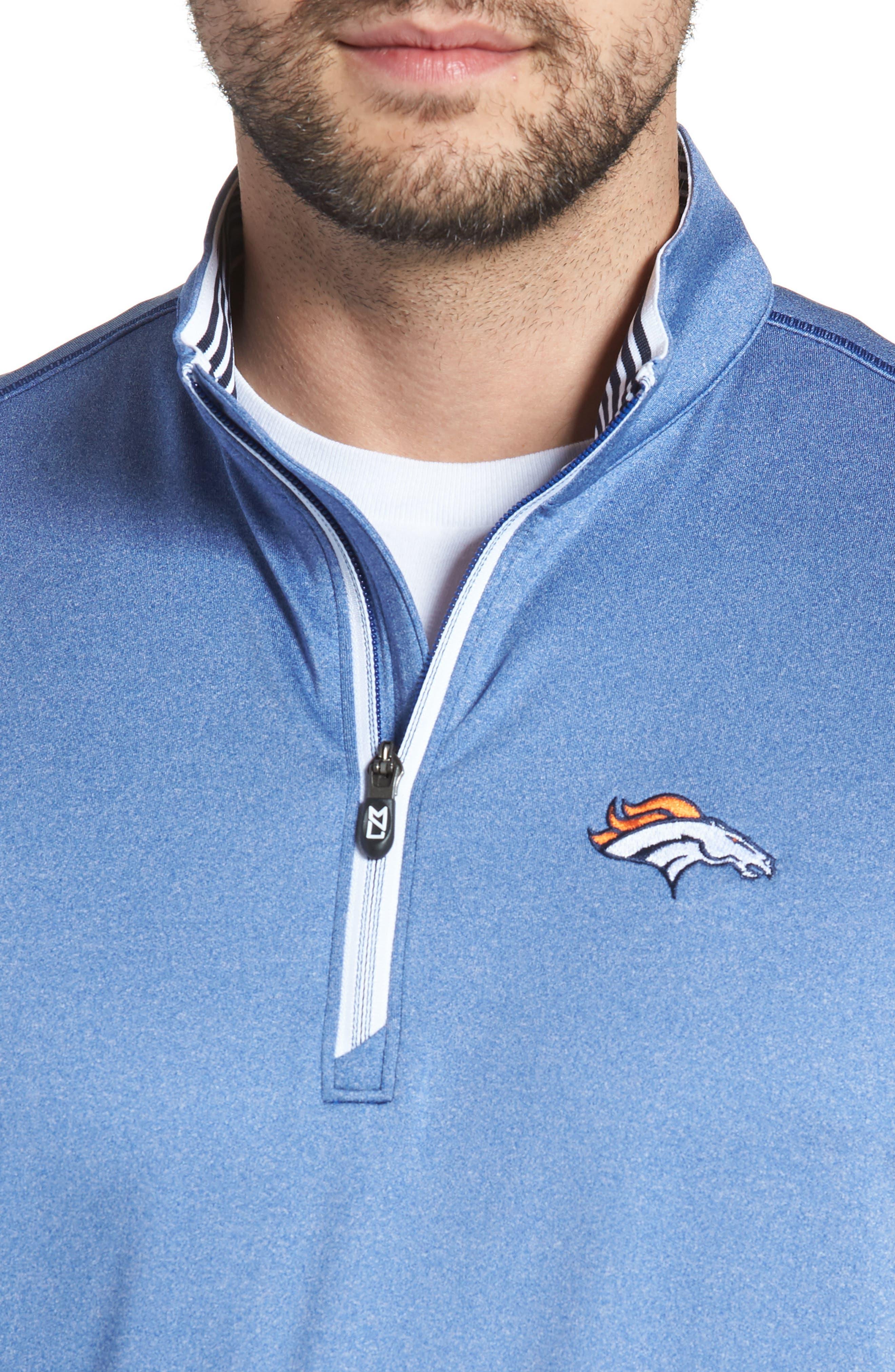 Endurance Denver Broncos Regular Fit Pullover,                             Alternate thumbnail 4, color,                             425