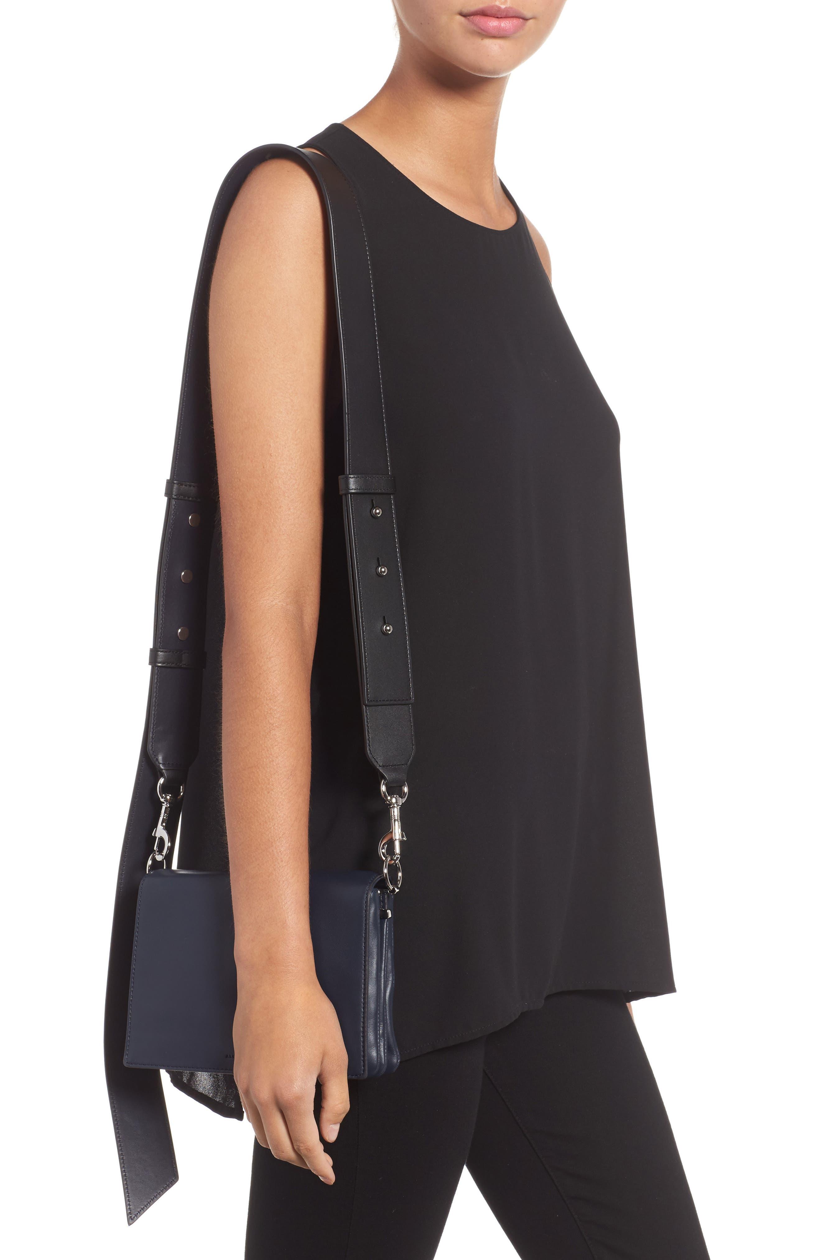 Zep Lambskin Leather Shoulder Bag,                             Alternate thumbnail 3, color,