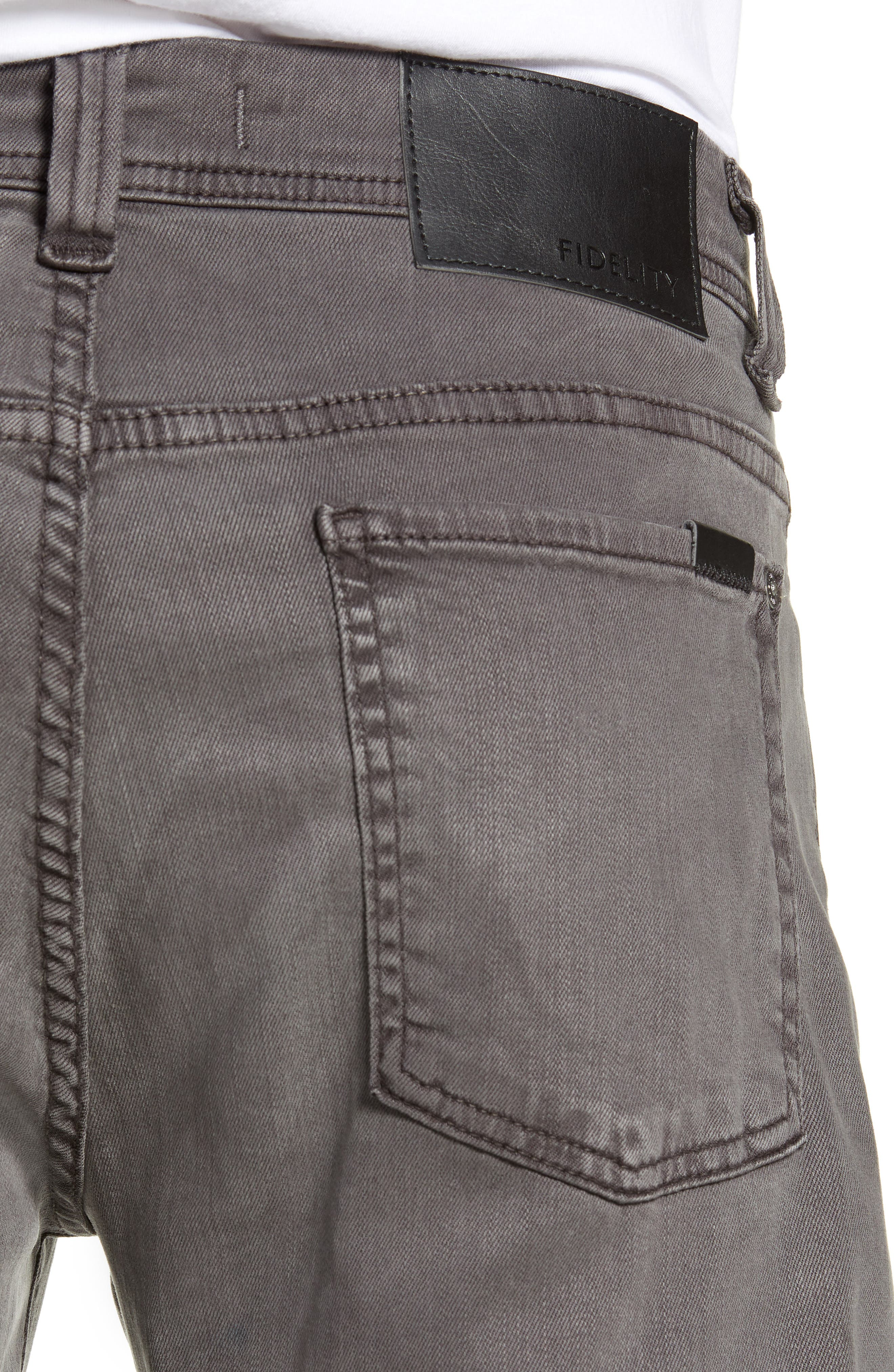 Jimmy Slim Straight Leg Jeans,                             Alternate thumbnail 4, color,                             LEAD