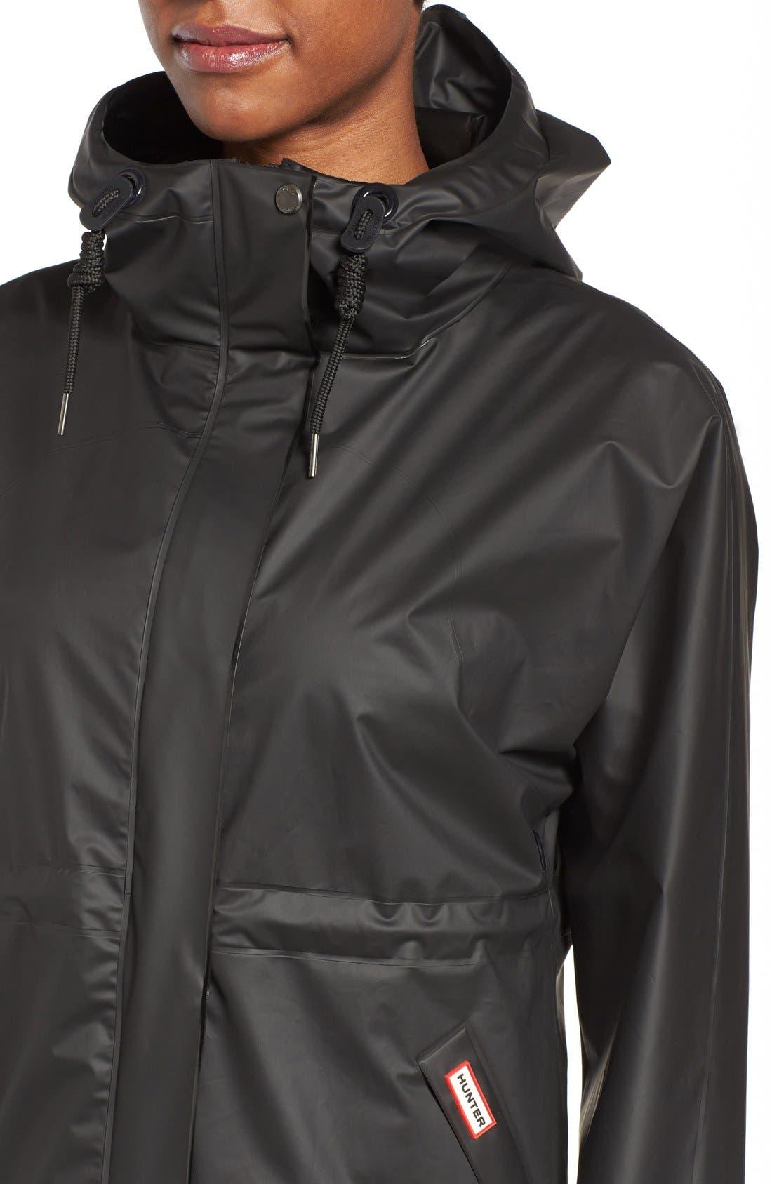 'Original Smock' Hooded Drawstring Waterproof Jacket,                             Alternate thumbnail 5, color,                             001