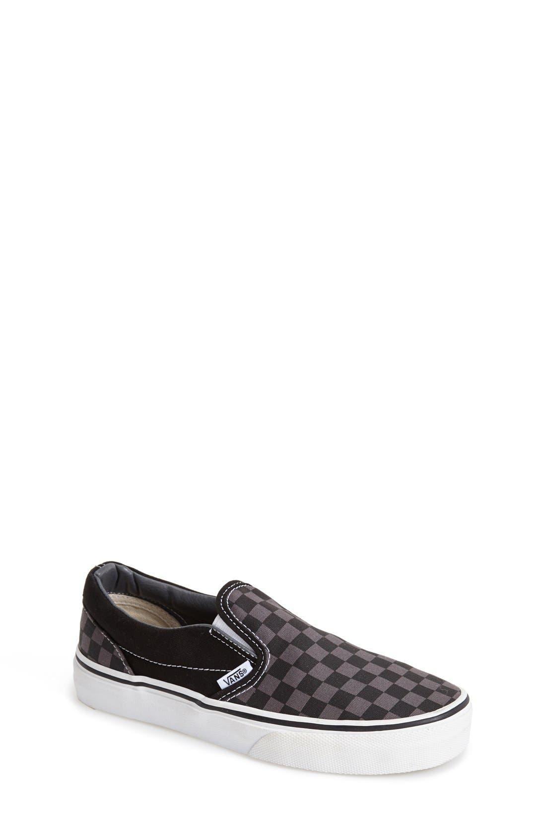 'Classic - Checker' Slip-On,                         Main,                         color, CHECKERBOARD/ BLACK/ PEWTER