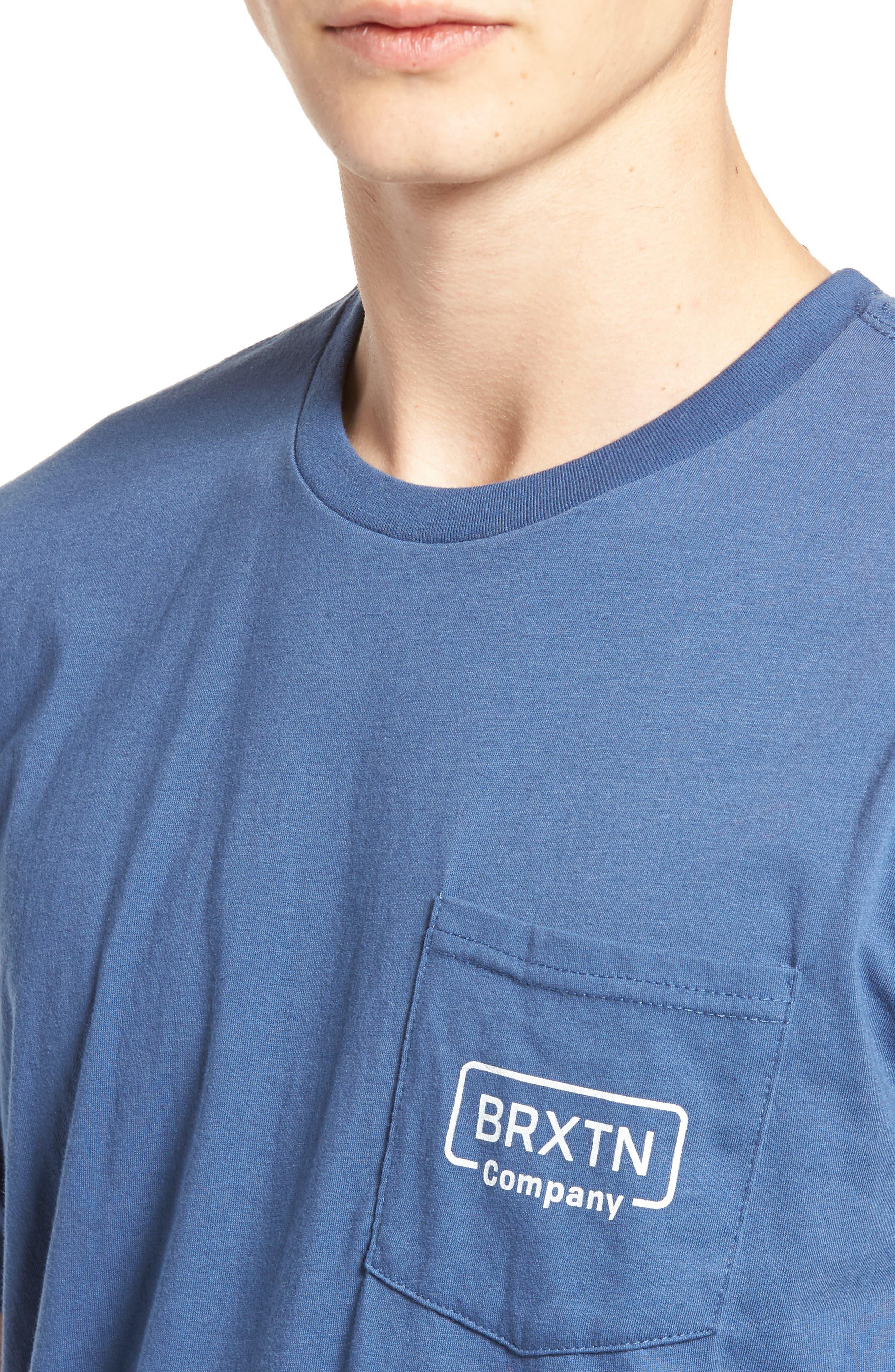 Crosswhite Pocket T-Shirt,                             Alternate thumbnail 4, color,                             400