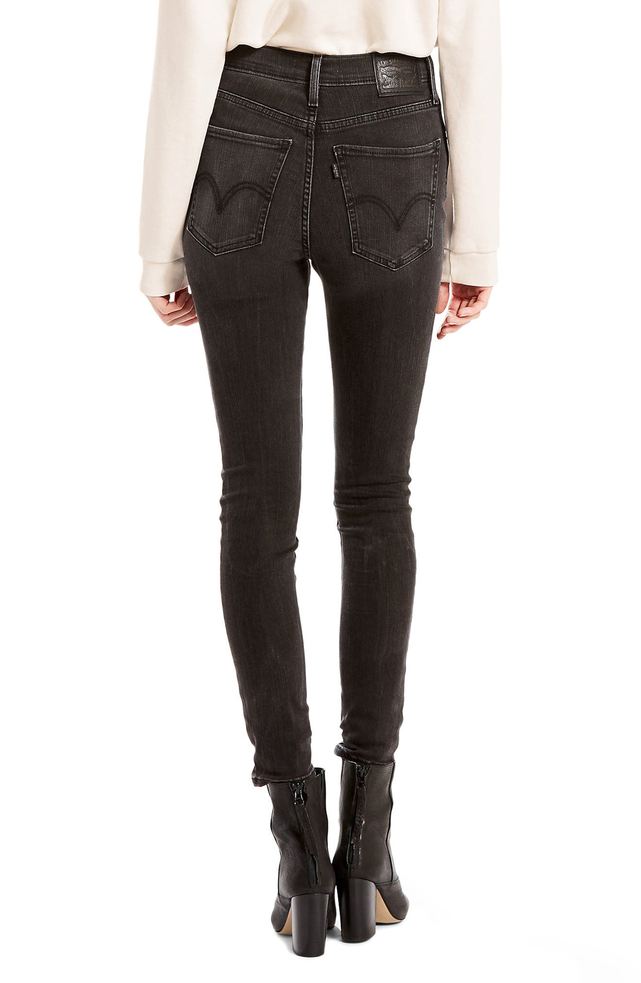 Mile High High Waist Super Skinny Jeans,                             Alternate thumbnail 2, color,                             020