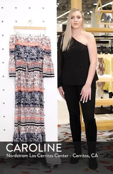 Off the Shoulder Tie Waist Maxi Dress, sales video thumbnail