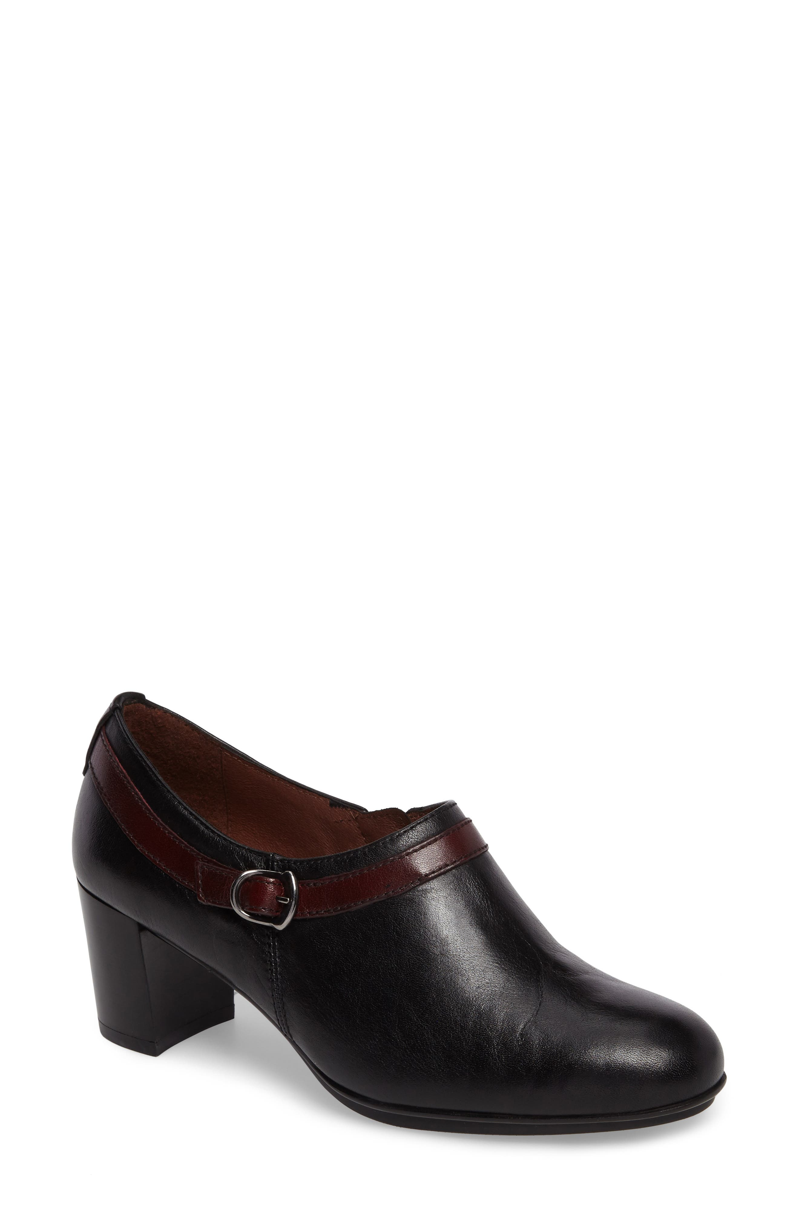 Shelley Bootie,                         Main,                         color, BLACK LEATHER