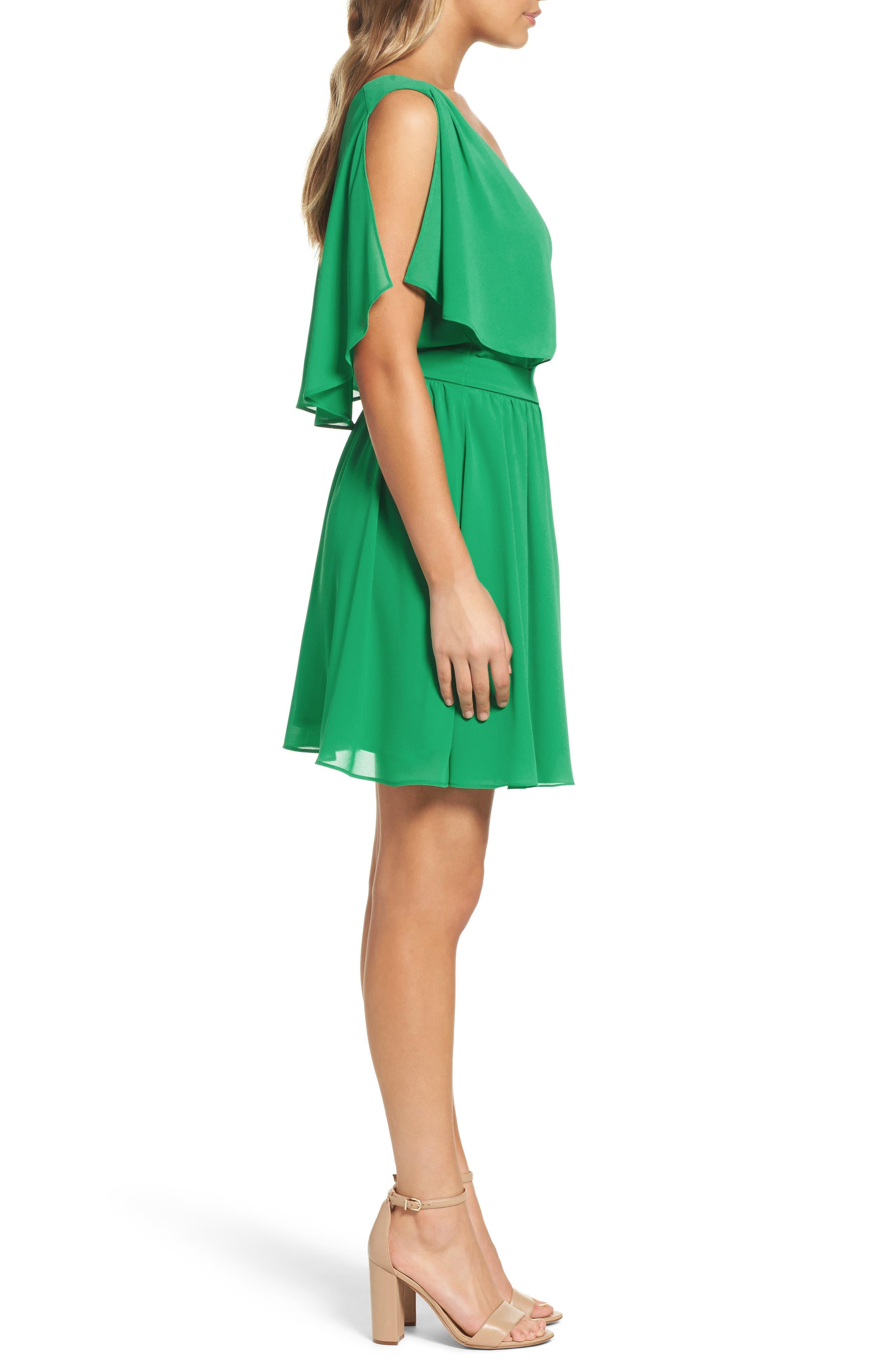 BB Dakota Catia Fit & Flare Dress,                             Alternate thumbnail 3, color,                             300