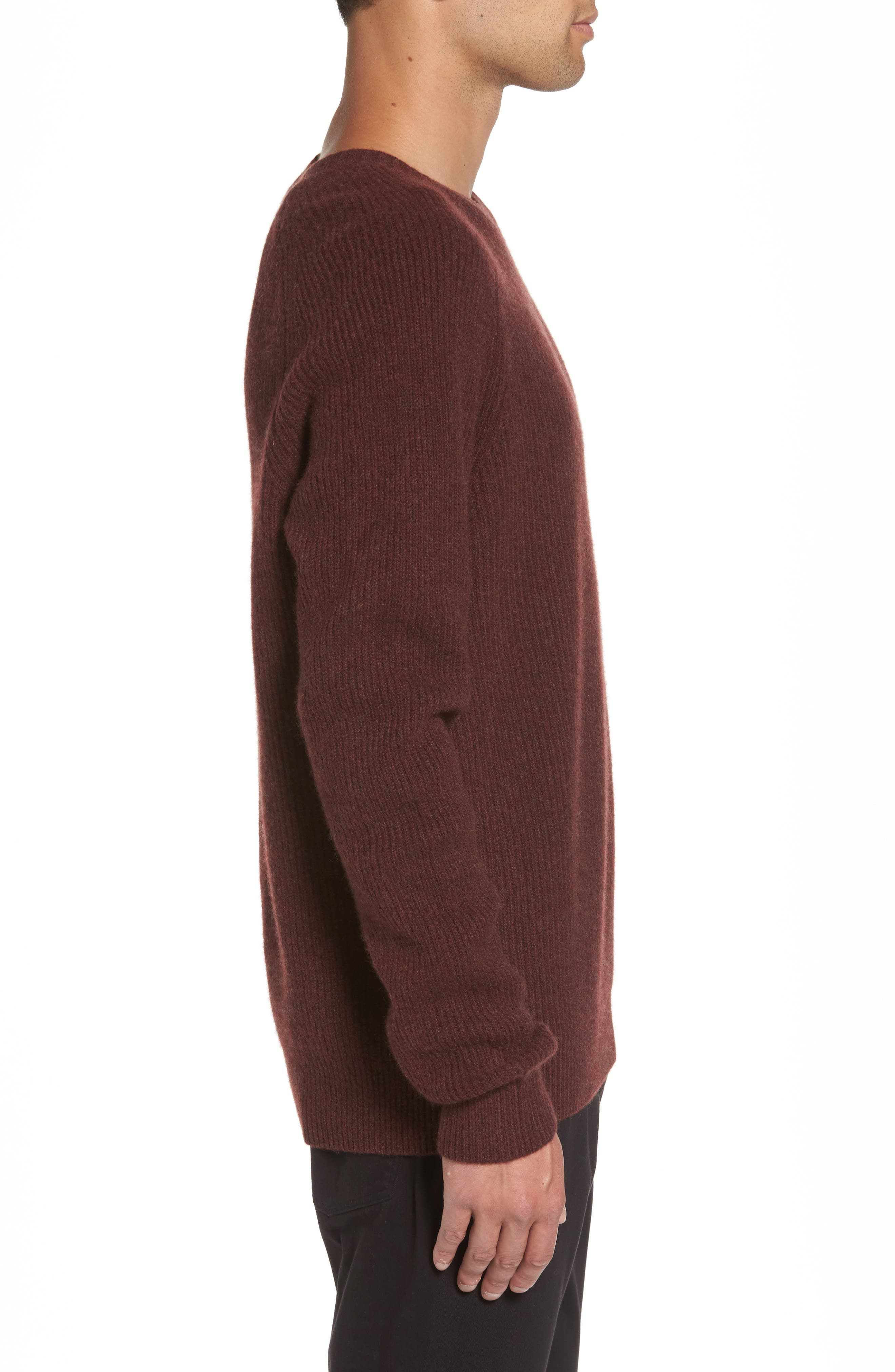 Ribbed Wool & Cashmere Raglan Sweater,                             Alternate thumbnail 12, color,