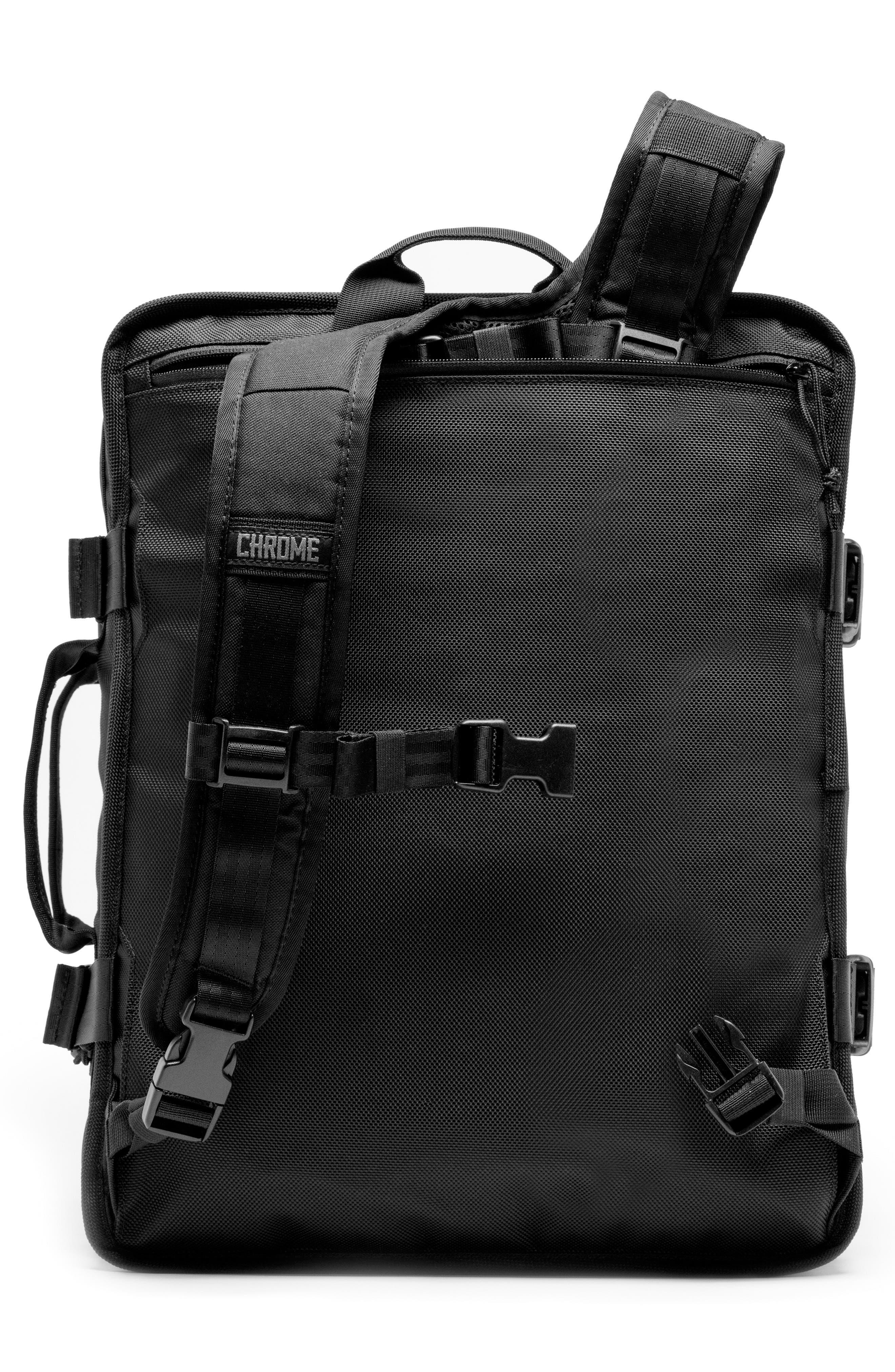 Macheto Travel Backpack,                             Alternate thumbnail 3, color,                             ALL BLACK
