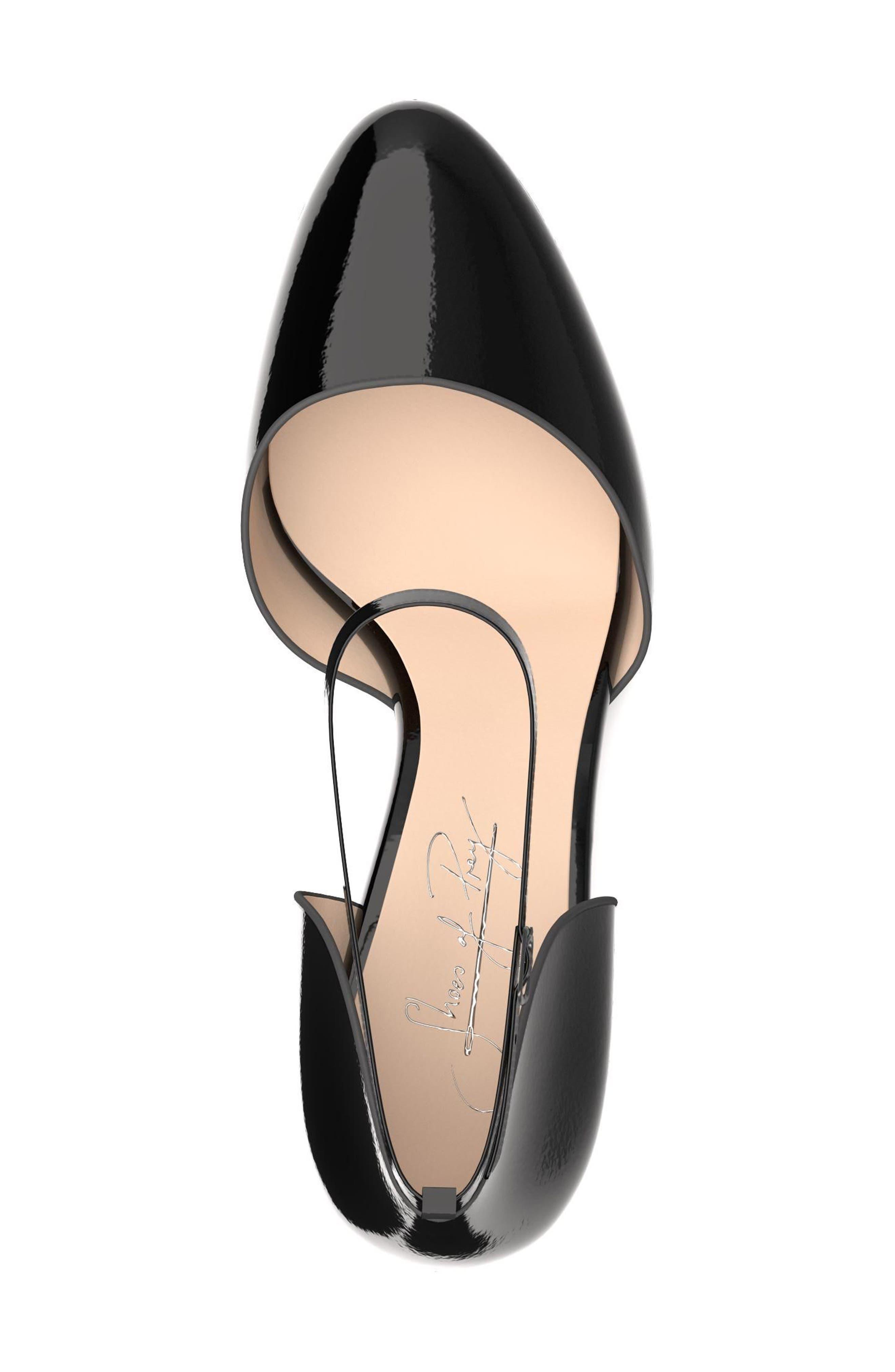 Block Heel d'Orsay Pump,                             Alternate thumbnail 4, color,                             001