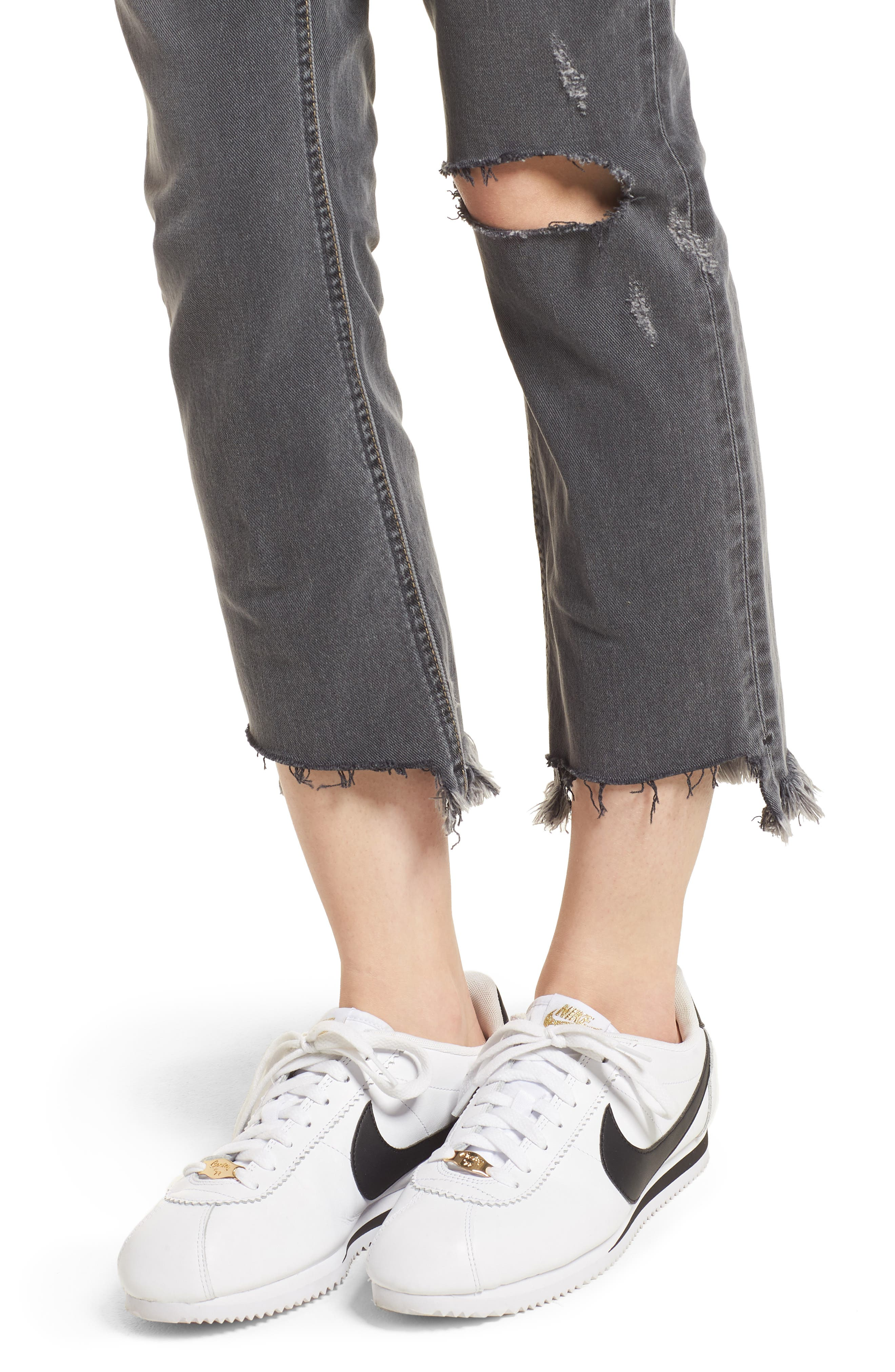 The Cropped Straight Leg Jeans,                             Alternate thumbnail 4, color,                             080
