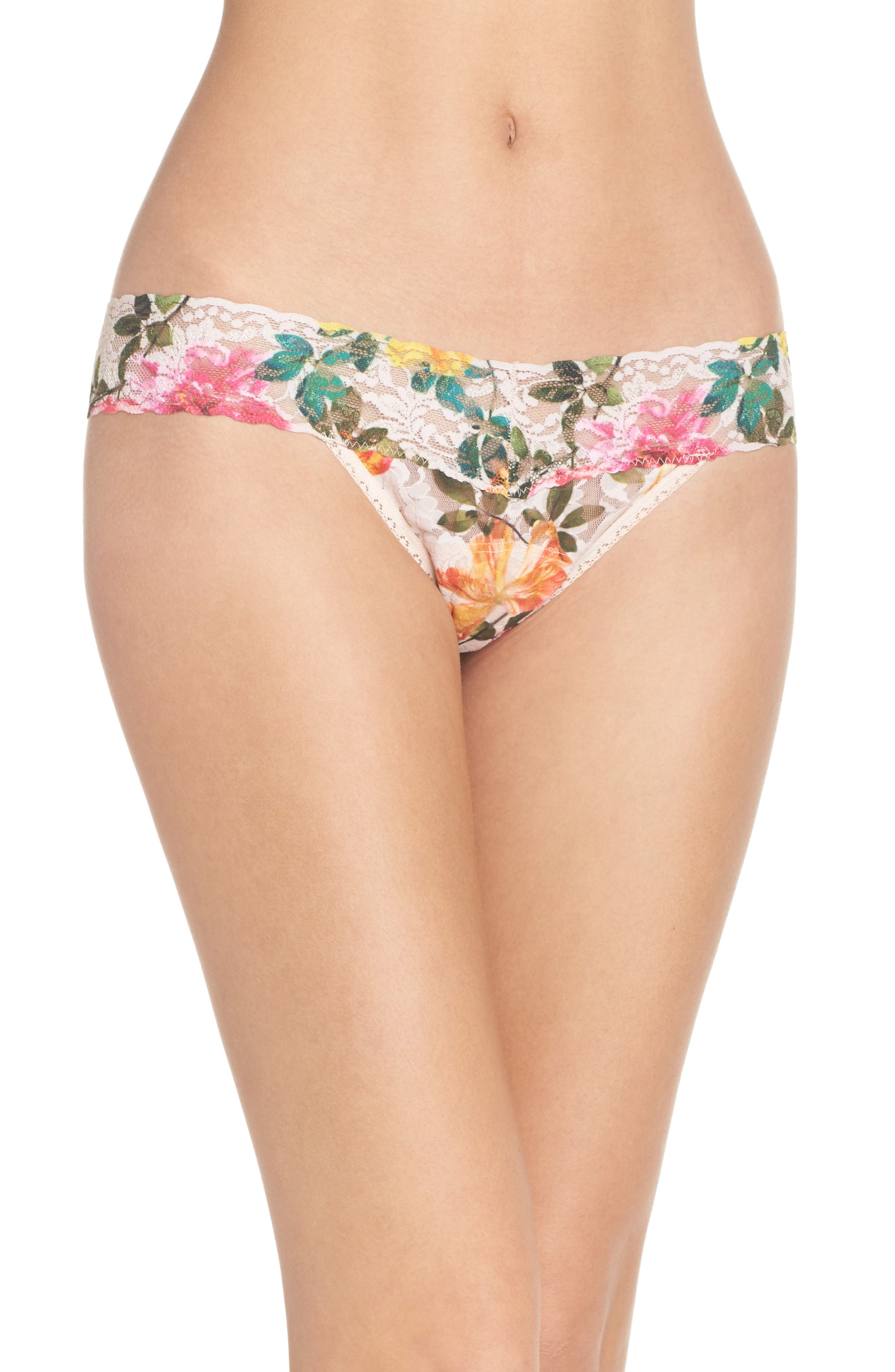 Print Low Rise Thong,                             Main thumbnail 17, color,