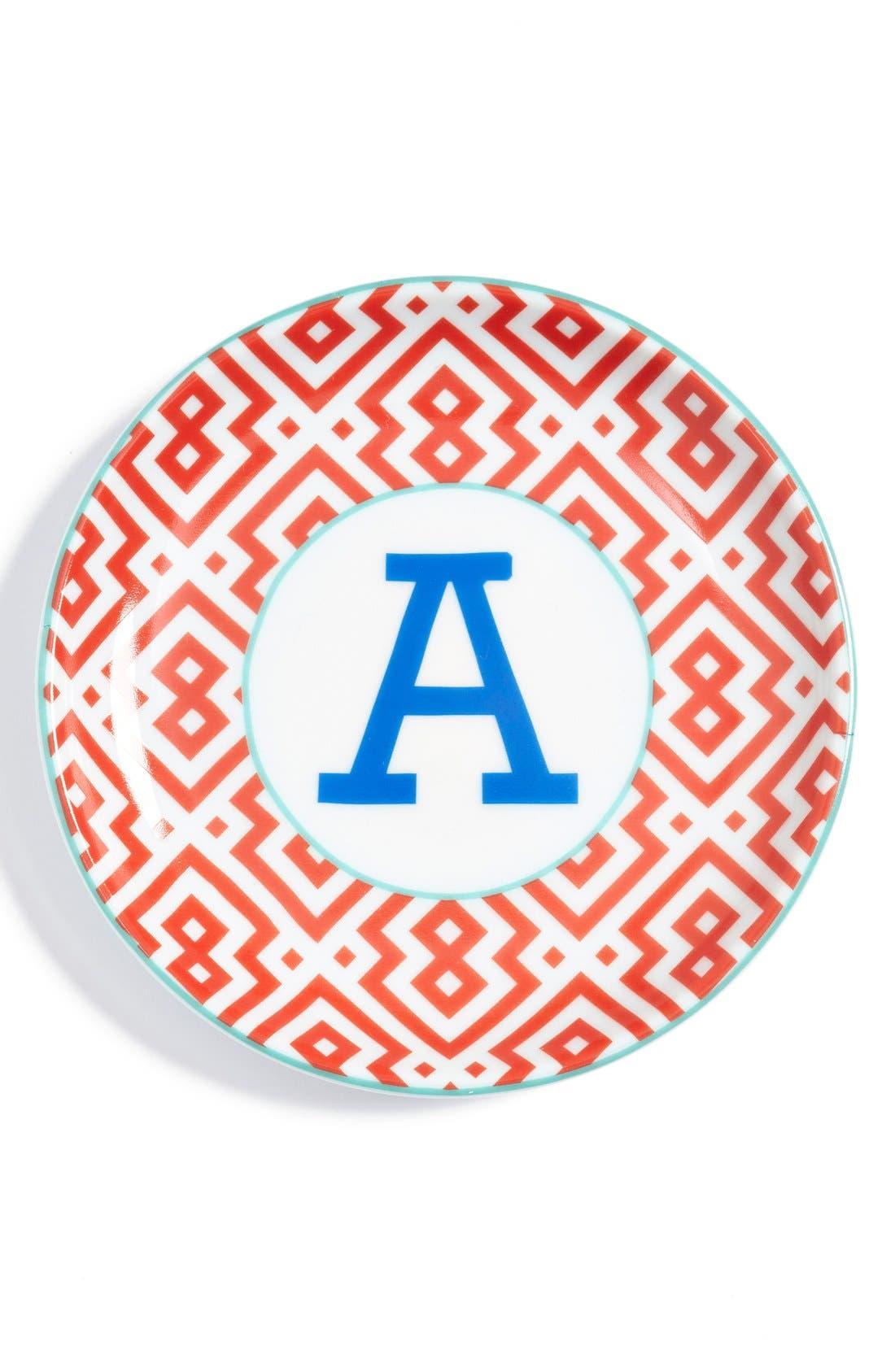 'L'Alphabet' Porcelain Tray,                             Main thumbnail 3, color,