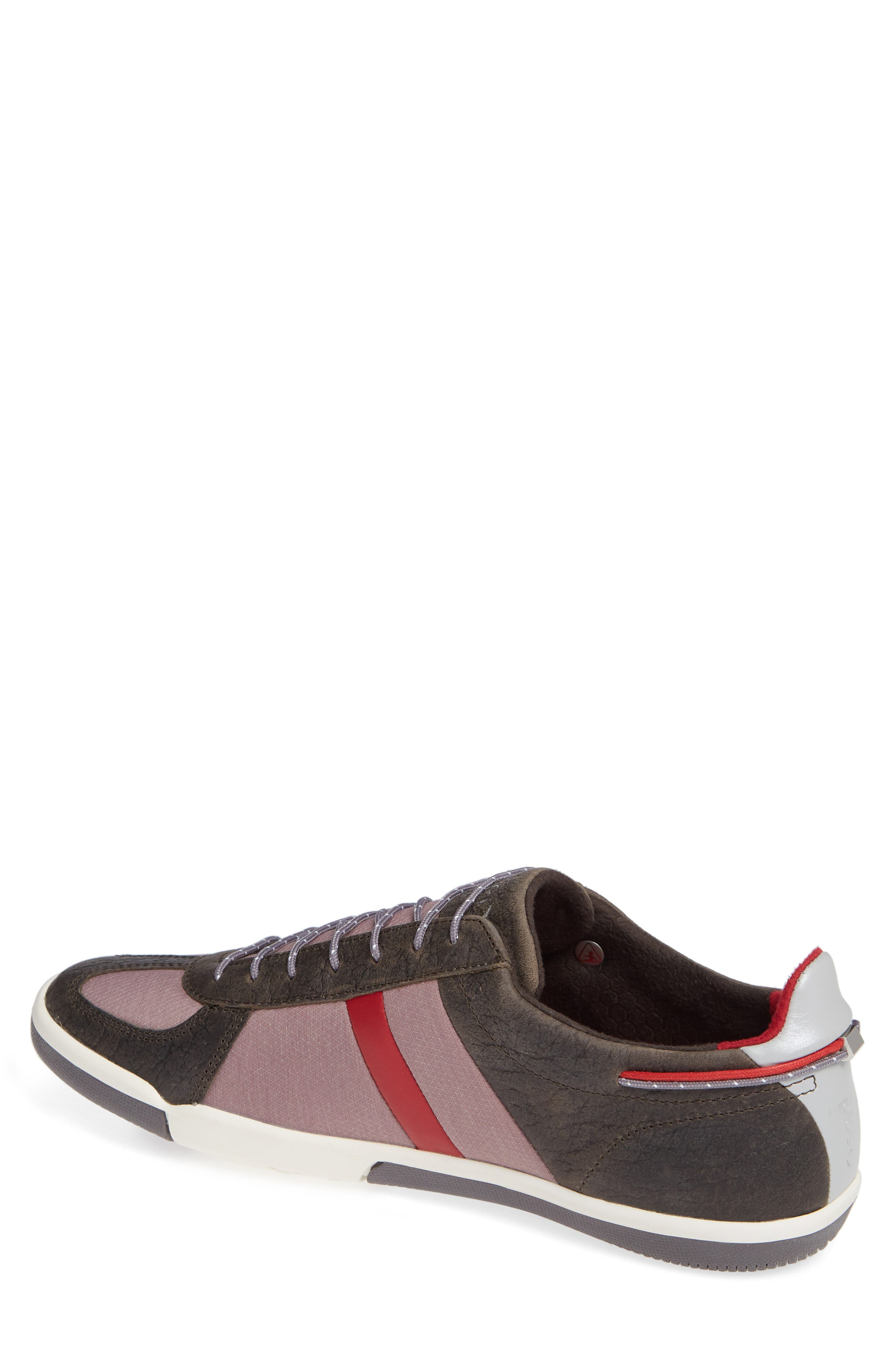 Butler Low-Top Sneaker,                             Alternate thumbnail 2, color,                             EMBER BROWN LEATHER
