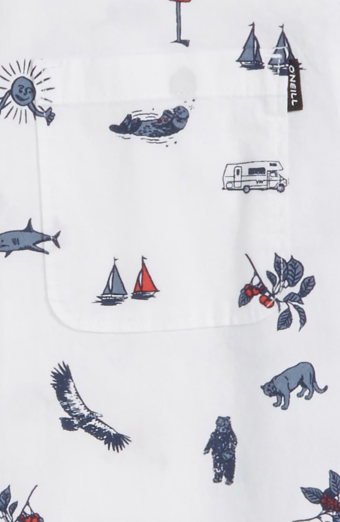 Squawker Woven Shirt,                             Alternate thumbnail 2, color,                             100