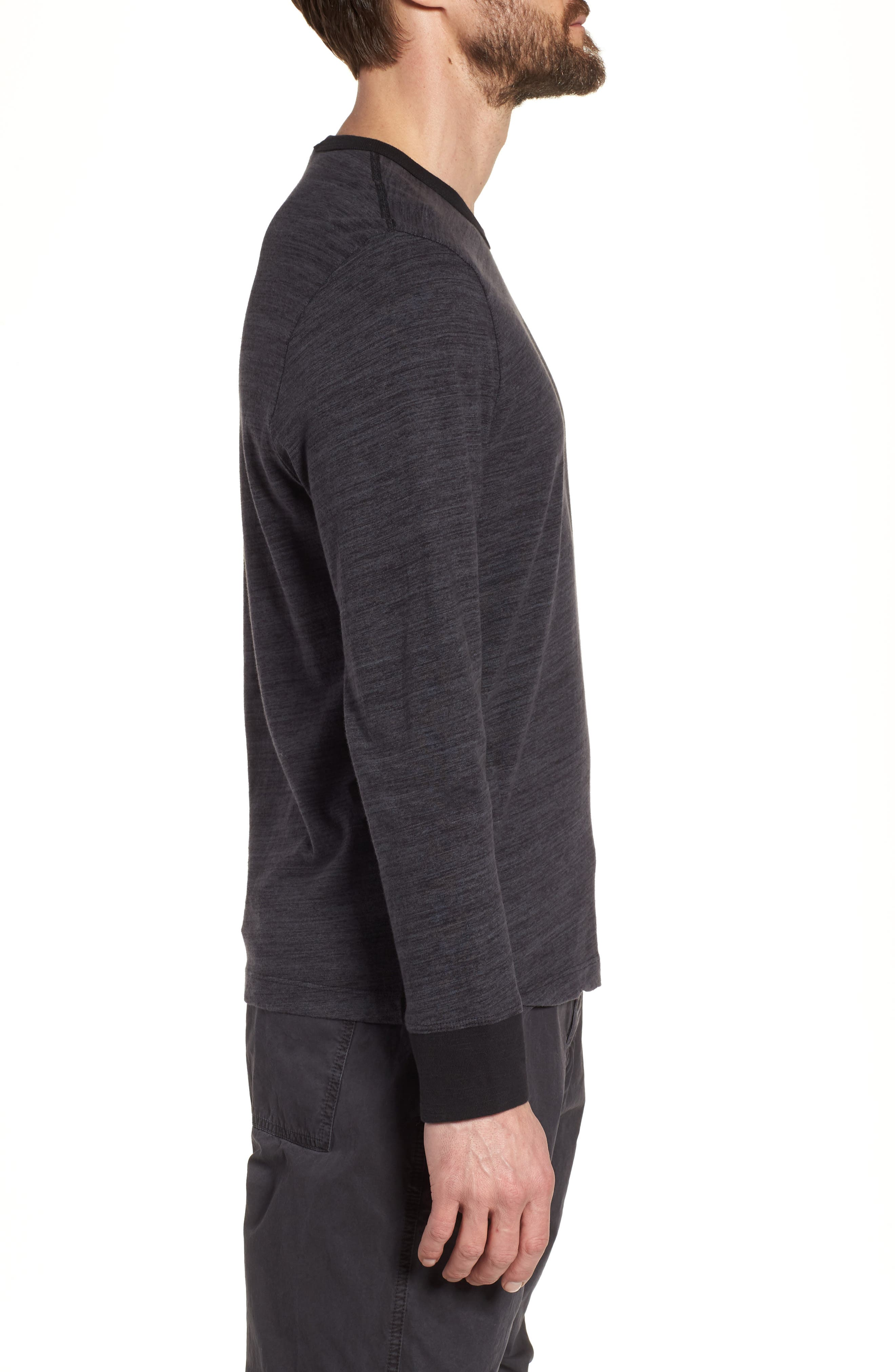 Regular Fit Top Dyed Crewneck T-Shirt,                             Alternate thumbnail 3, color,                             002