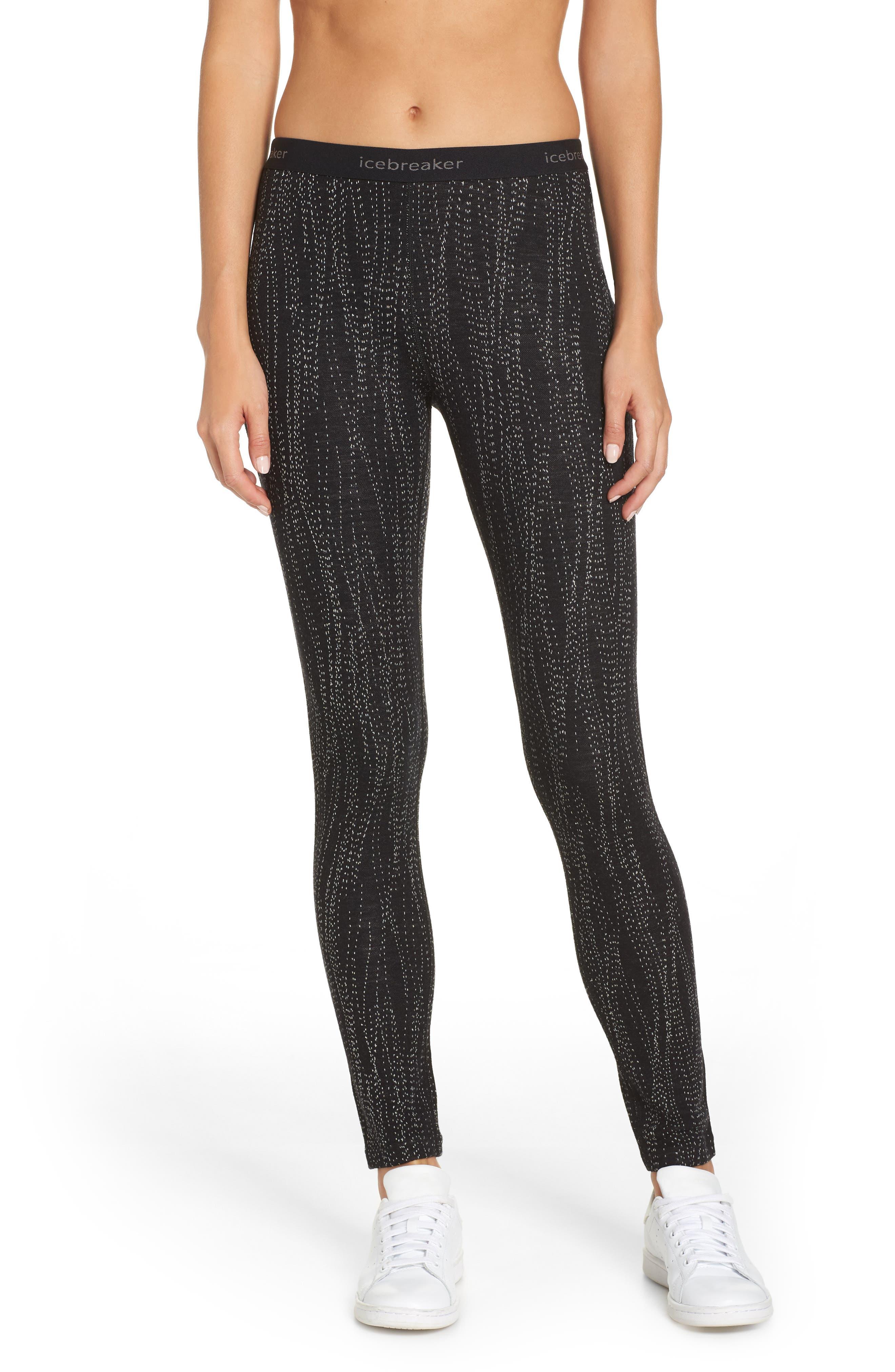 250 Vertex Merino Wool Base Layer Leggings,                         Main,                         color, BLACK/ SNOW