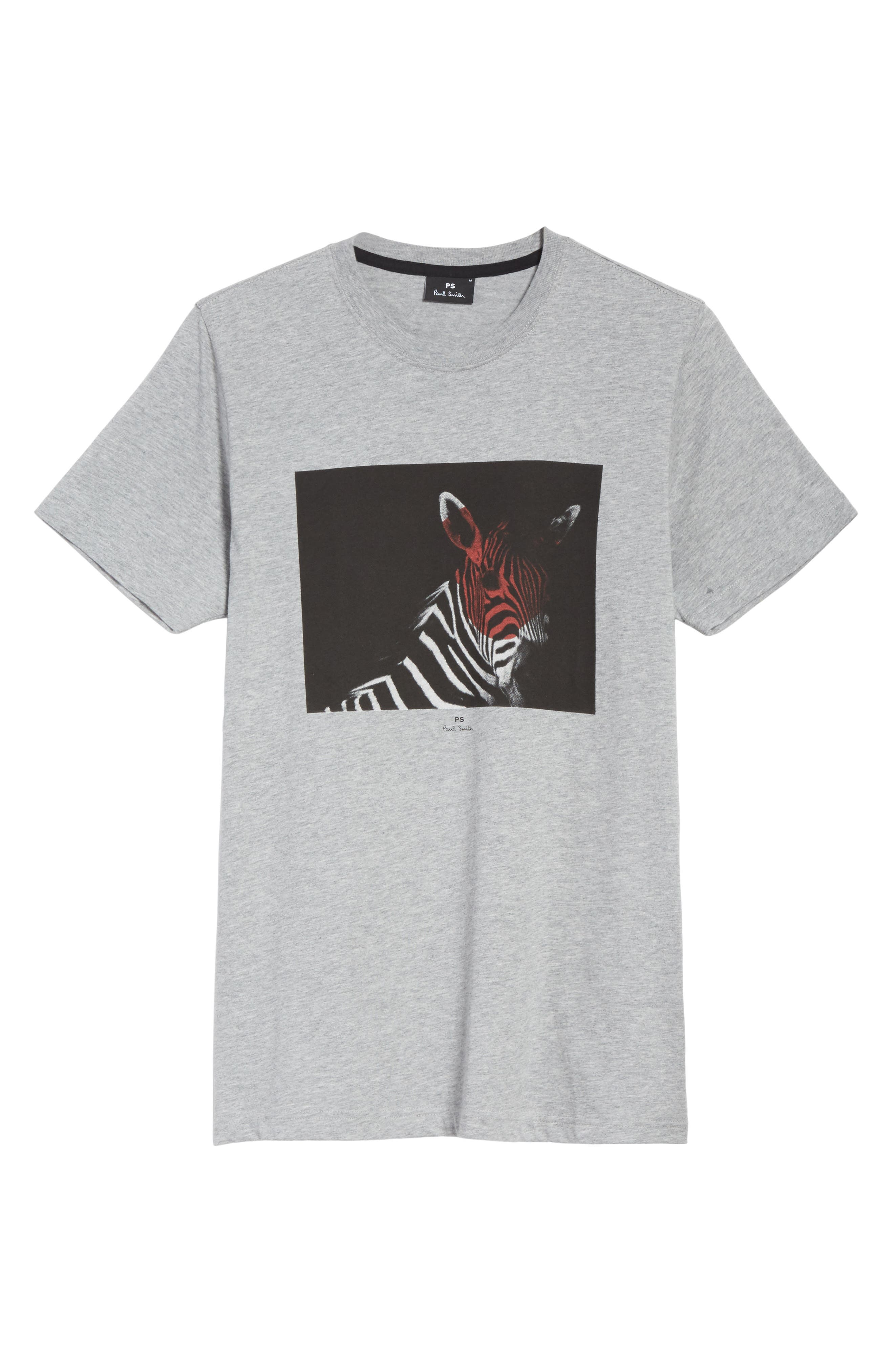 Large Zebra Graphic T-Shirt,                             Alternate thumbnail 6, color,                             037