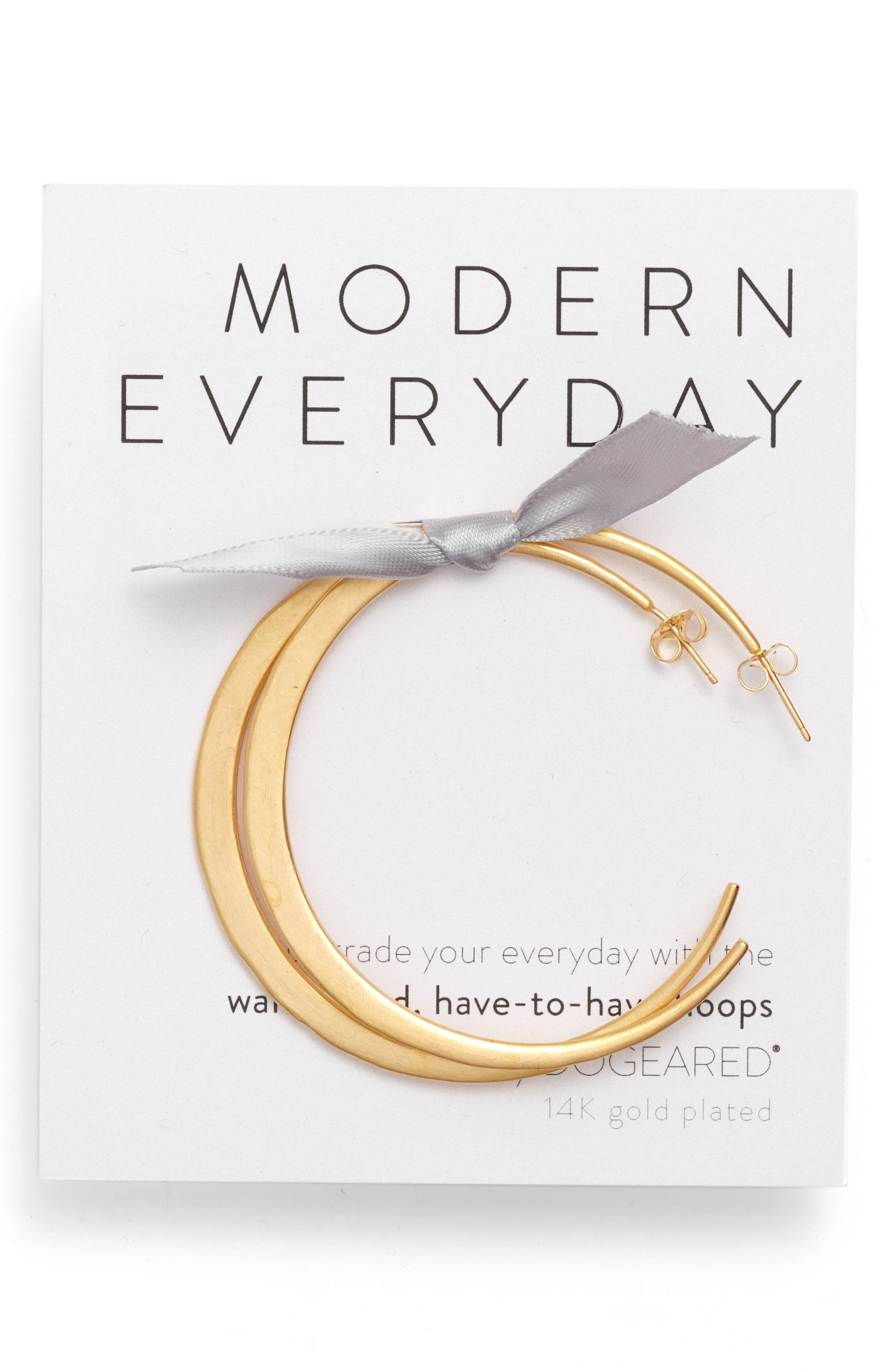 DOGEARED Modern Everyday Have To Have Hoop Earrings in Gold