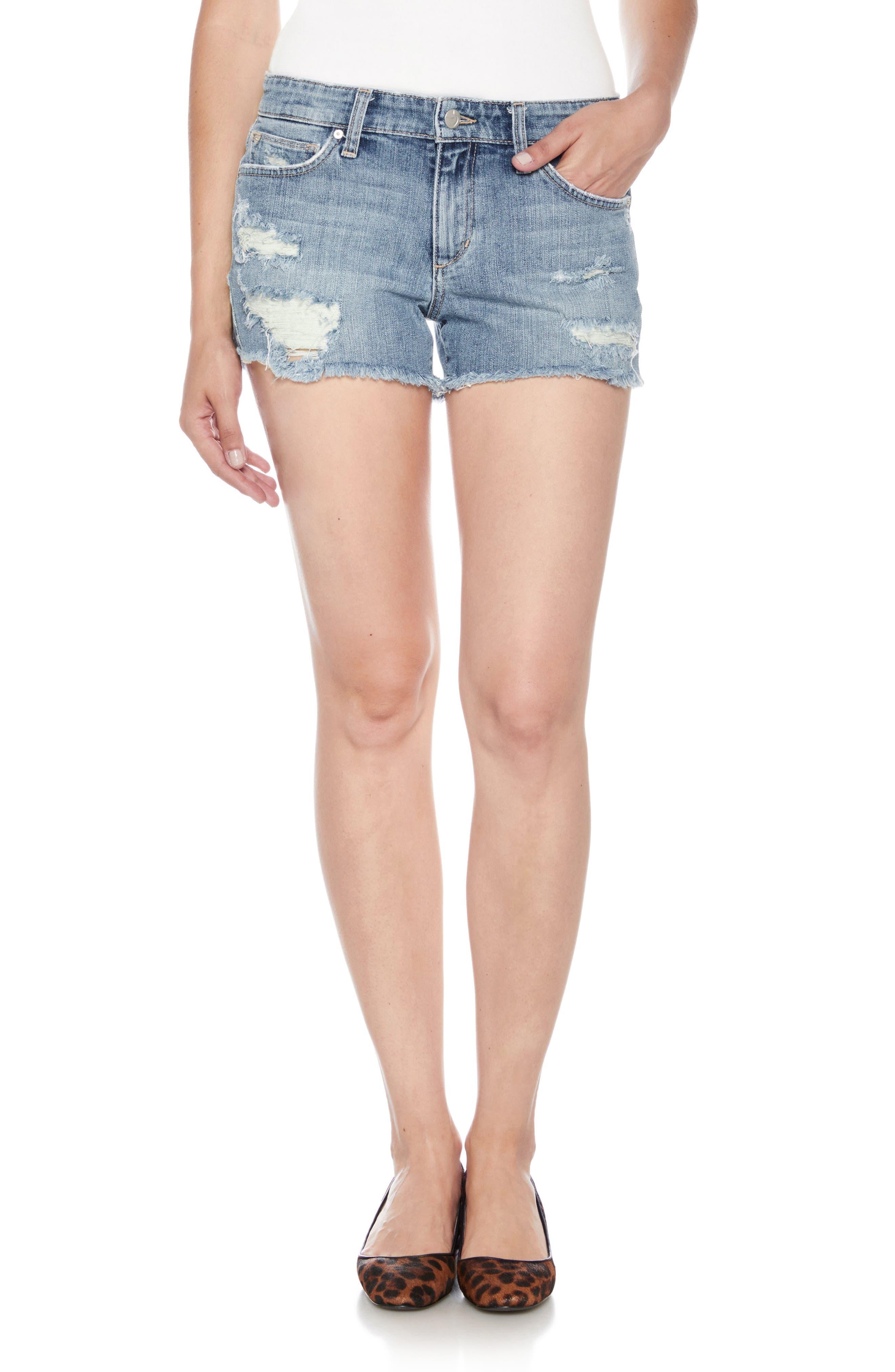 Ozzie Cutoff Denim Shorts,                         Main,                         color, BEXLEY