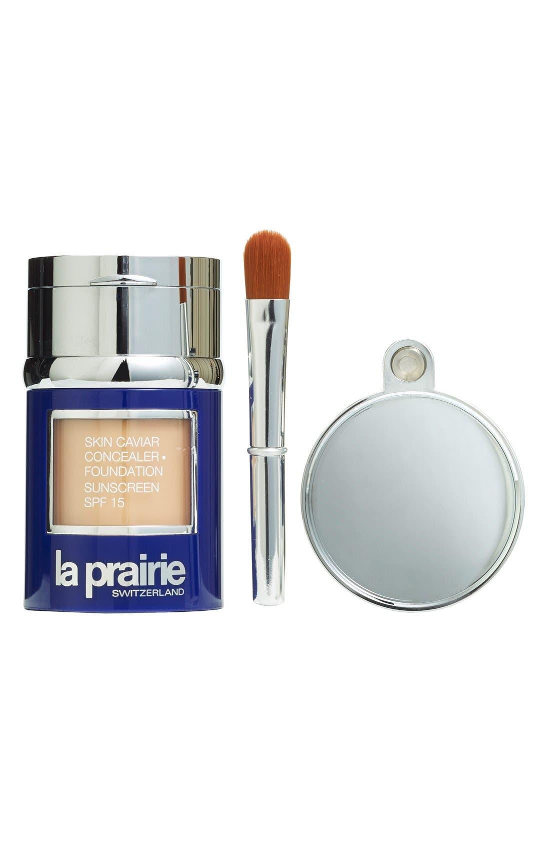 Skin Caviar Concealer + Foundation Sunscreen SPF 15,                             Alternate thumbnail 5, color,                             WARM BEIGE