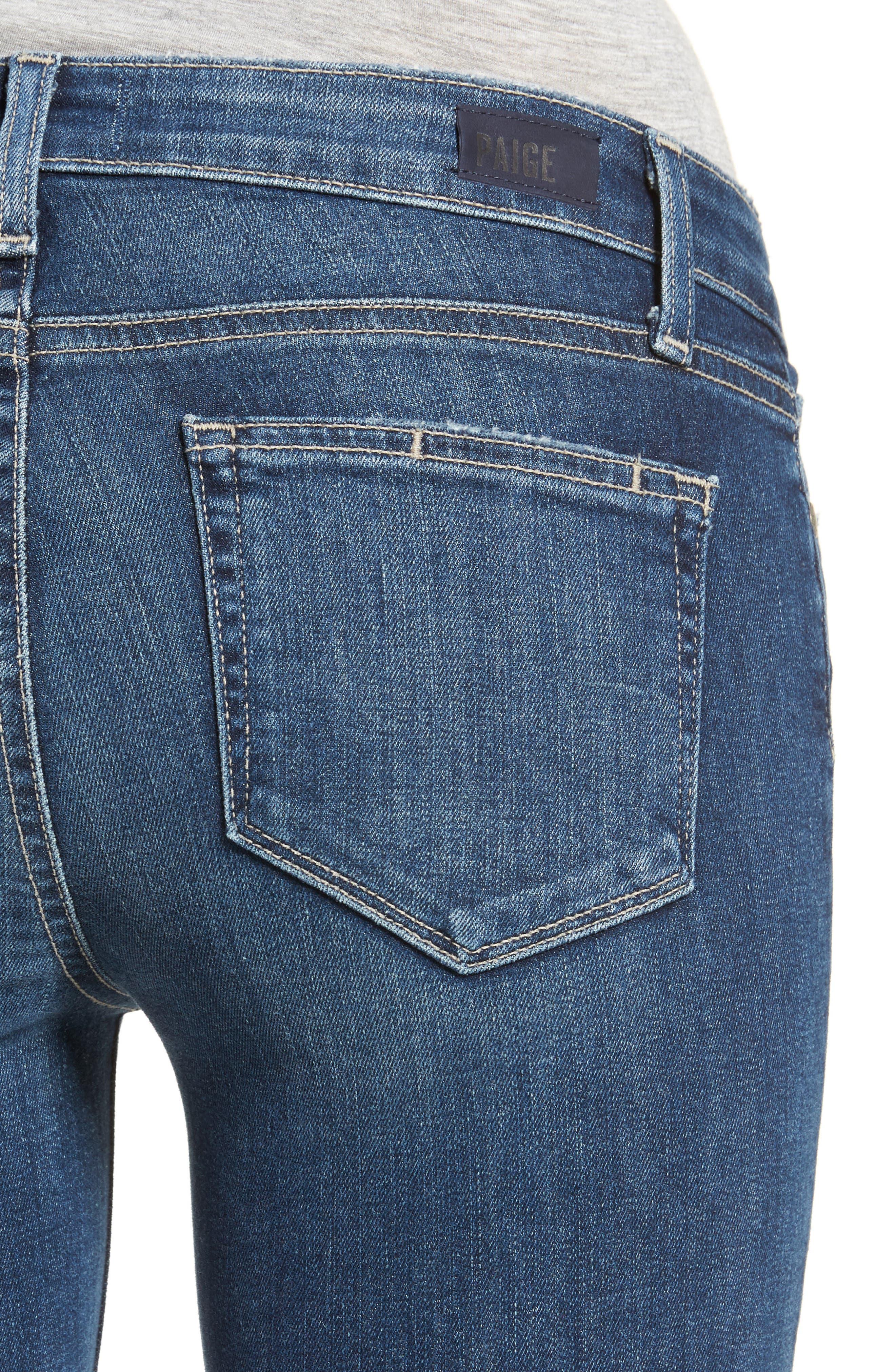 Verdugo Step Hem Ankle Skinny Jeans (Dede Destructed),                             Alternate thumbnail 4, color,                             400