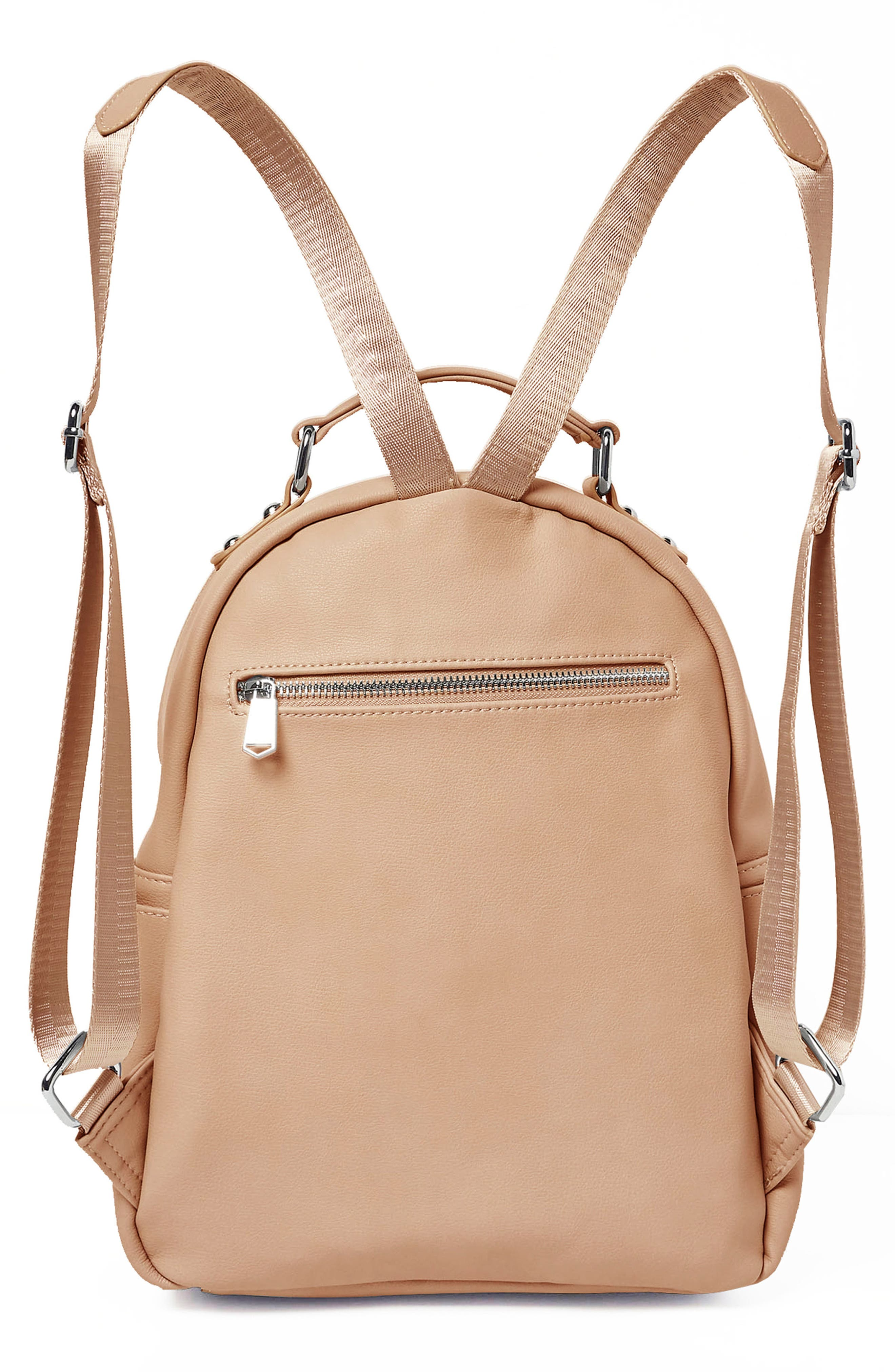 On My Own Vegan Leather Backpack,                             Alternate thumbnail 2, color,                             NUDE