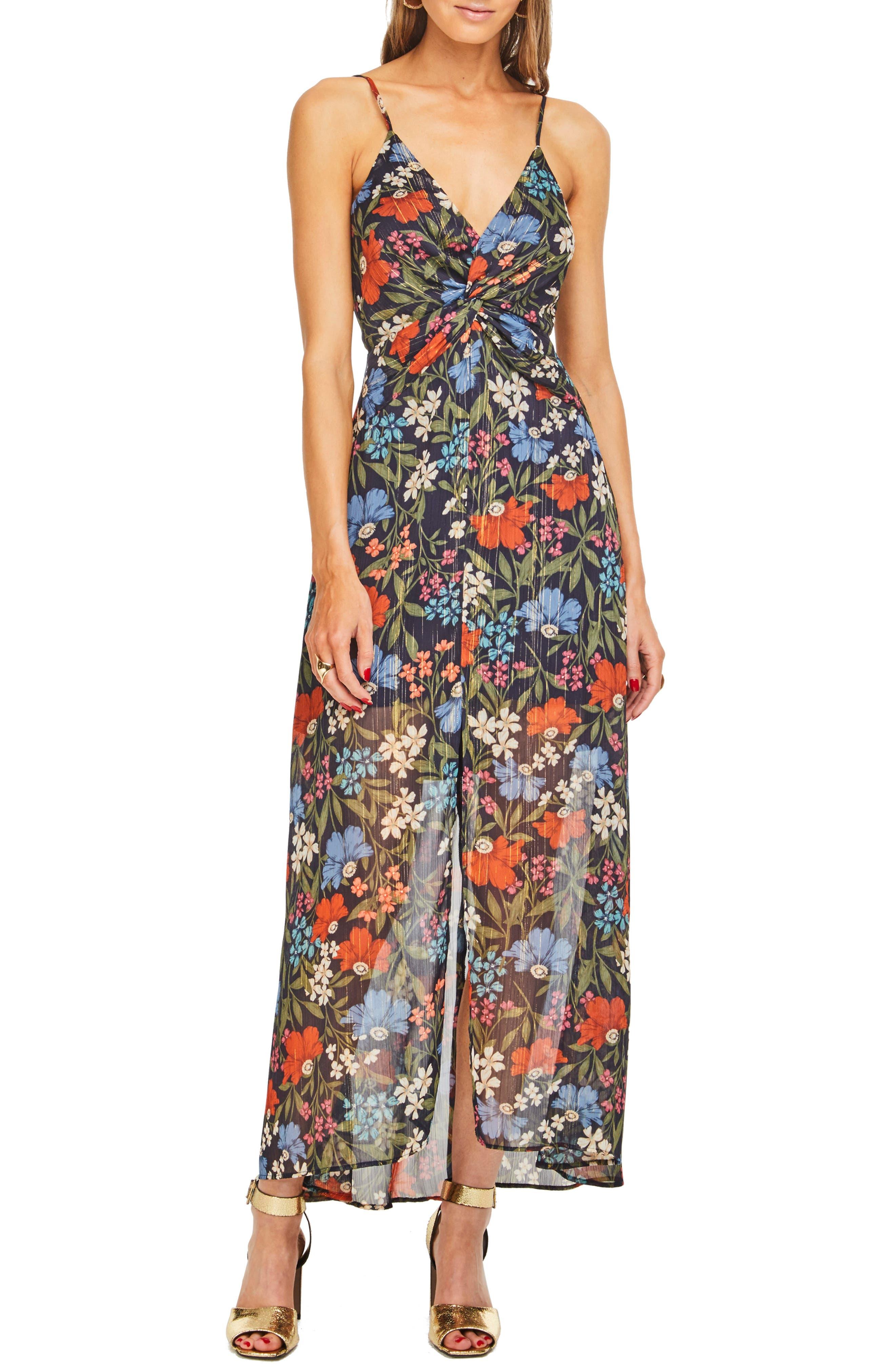 Alisha Maxi Dress,                         Main,                         color, NAVY MULTI FLORAL