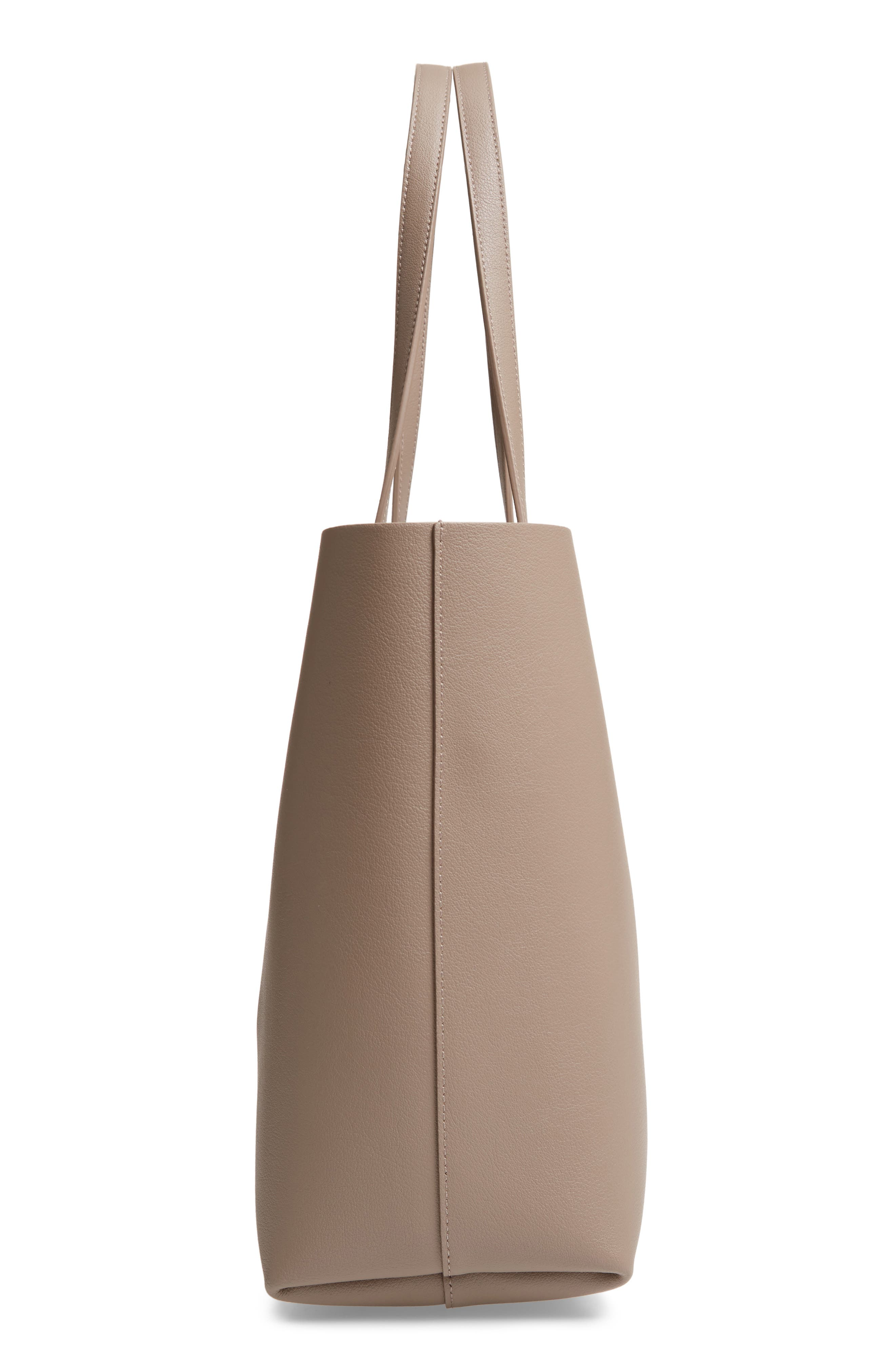 'Shopping' Leather Tote,                             Alternate thumbnail 5, color,                             MINK