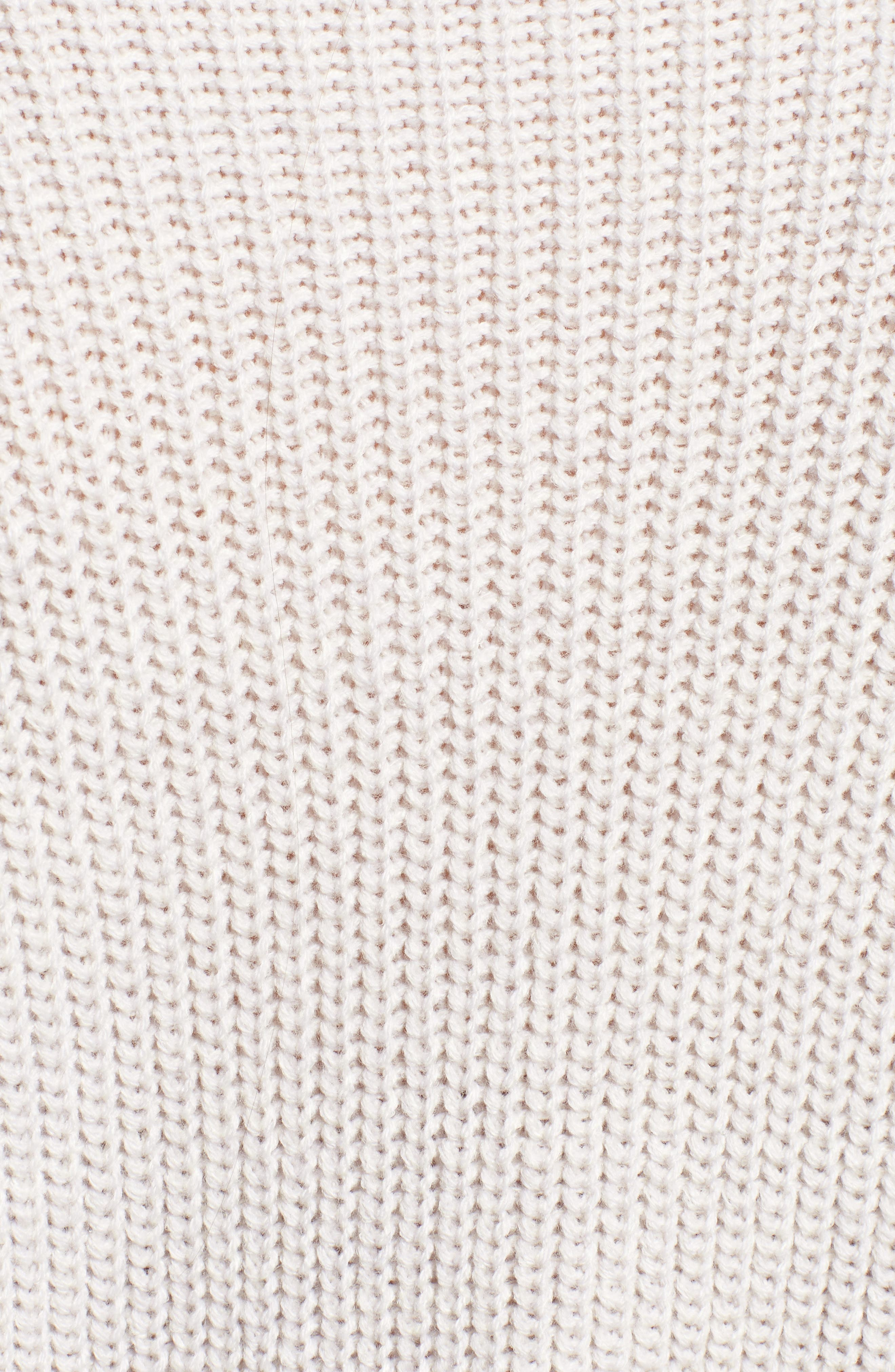 Grommet Sleeve Sweater,                             Alternate thumbnail 5, color,                             050