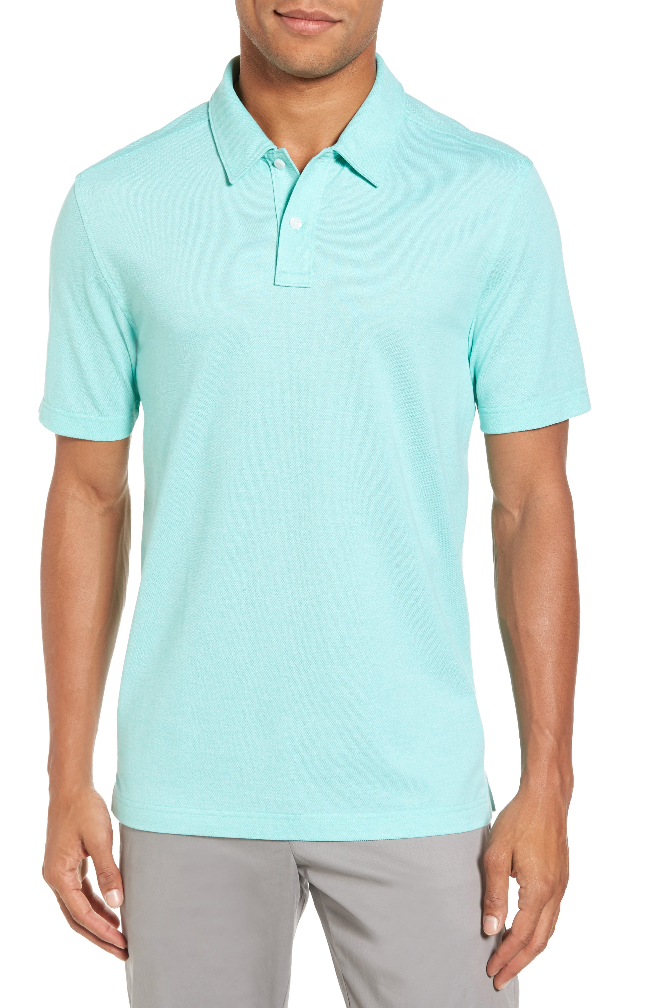 Regular Fit Polo,                         Main,                         color, TEAL GLOSS
