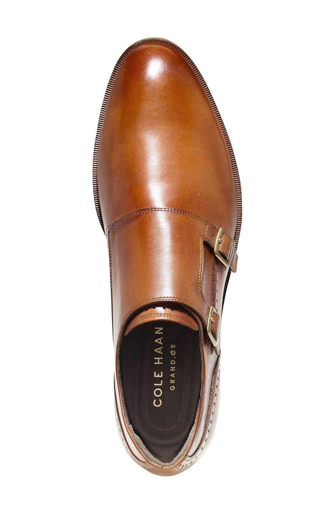 'Harrison' Double Monk Strap Shoe,                             Alternate thumbnail 10, color,                             BRITISH TAN LEATHER