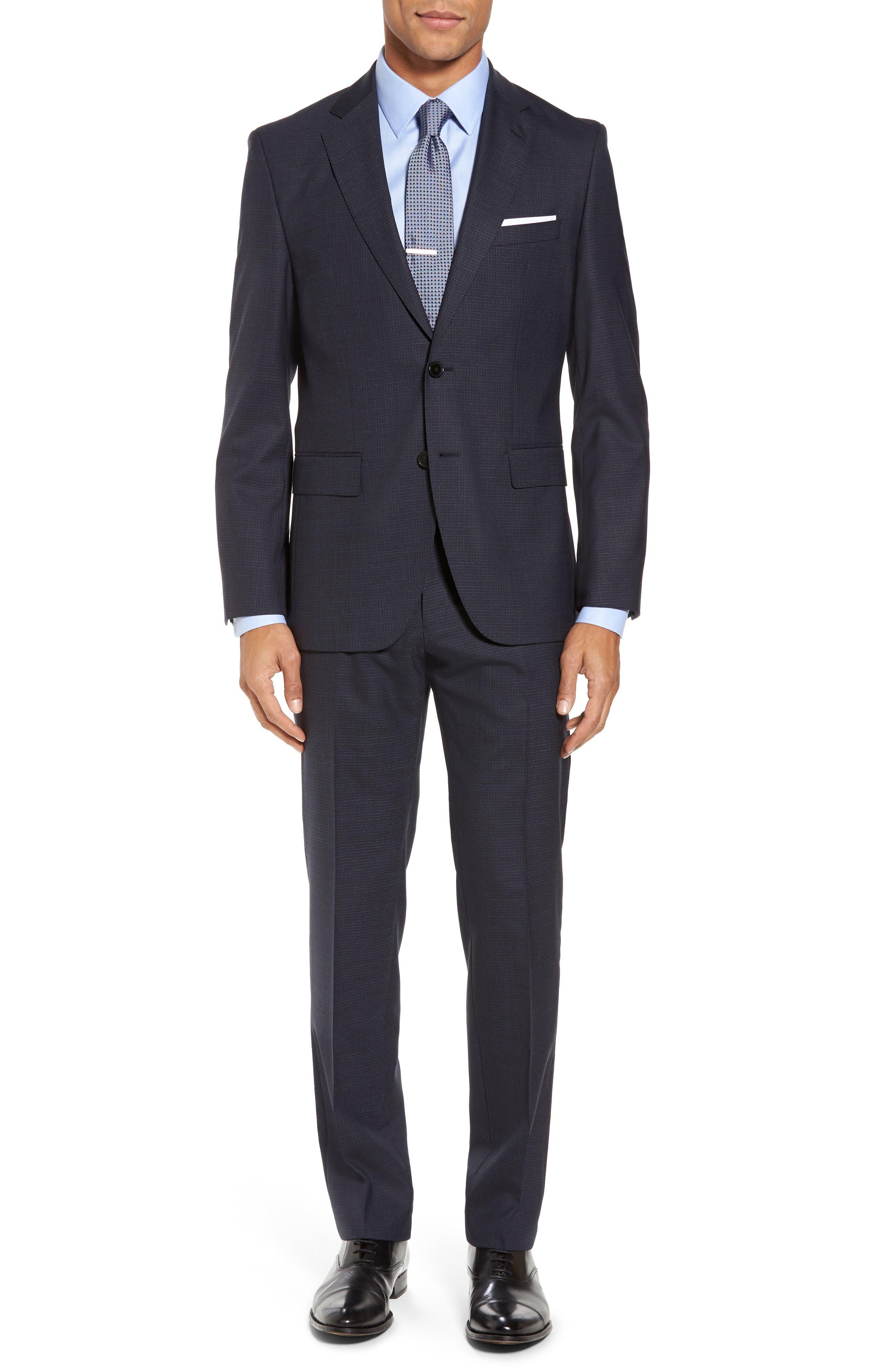 Johnstons/Lenon Classic Fit Check Wool Suit,                         Main,                         color, 409