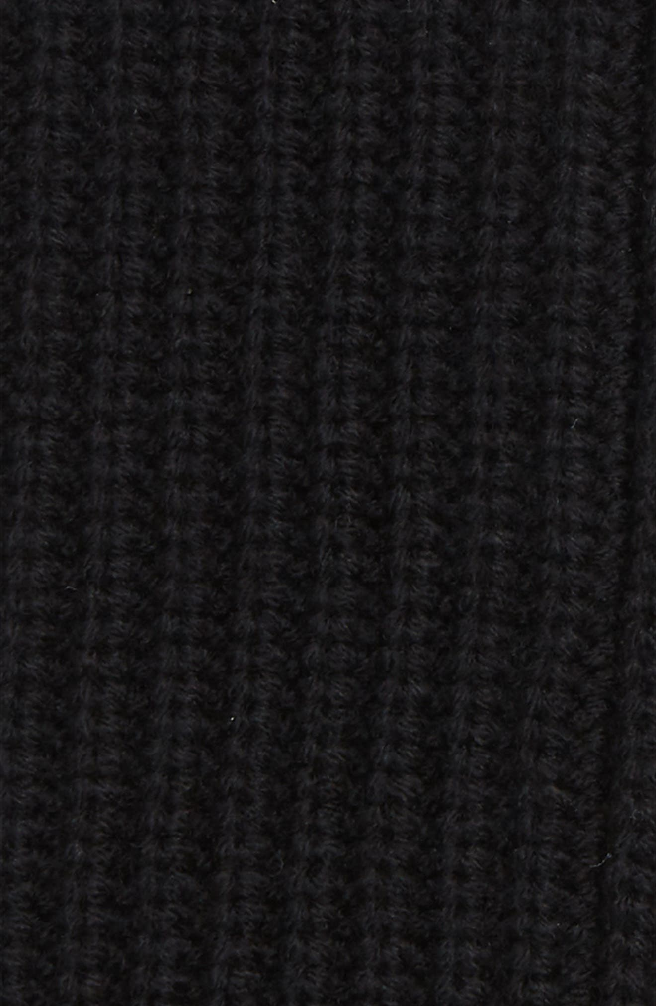 Half-Cardigan Stitch Arm Warmers,                             Alternate thumbnail 2, color,                             BLACK